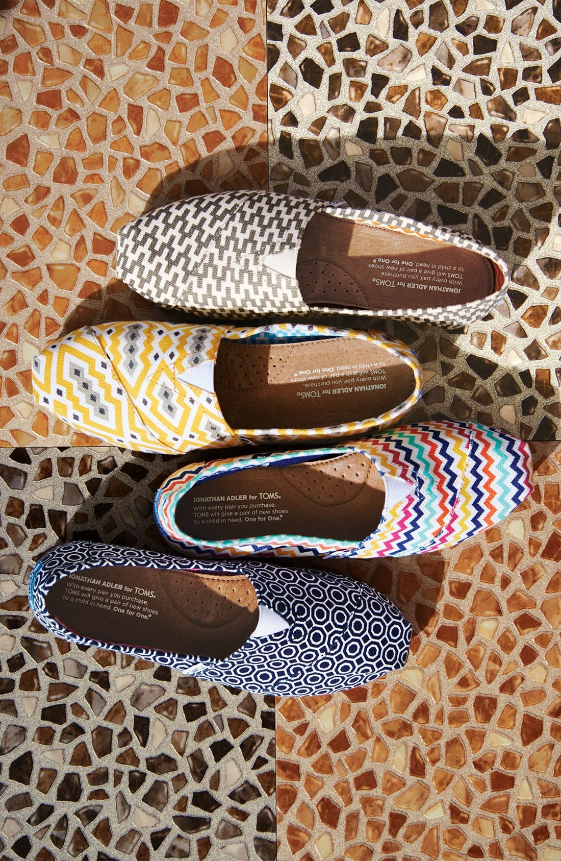 TOMS, 'Classic - Jonathan Adler' Slip-On, Alternate thumbnail 5, color, 020