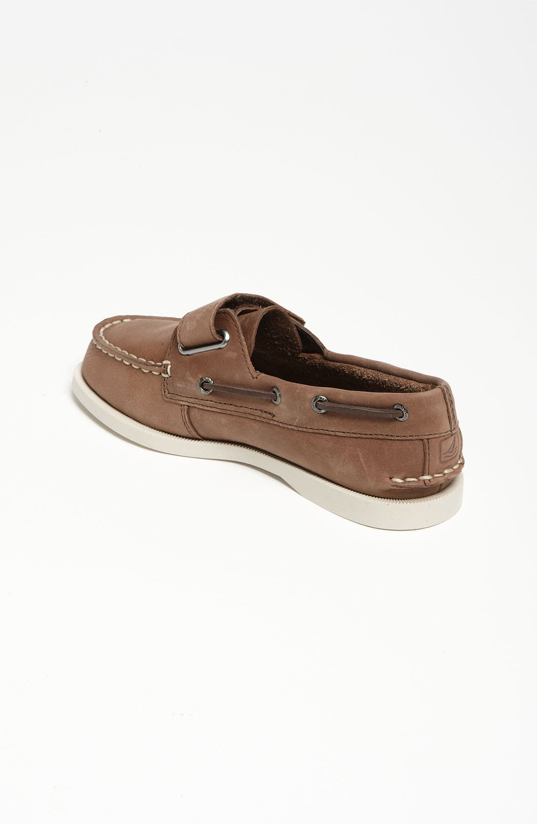 SPERRY KIDS, Sperry Top-Sider<sup>®</sup> Kids 'Authentic Original' Boat Shoe, Alternate thumbnail 3, color, BROWN