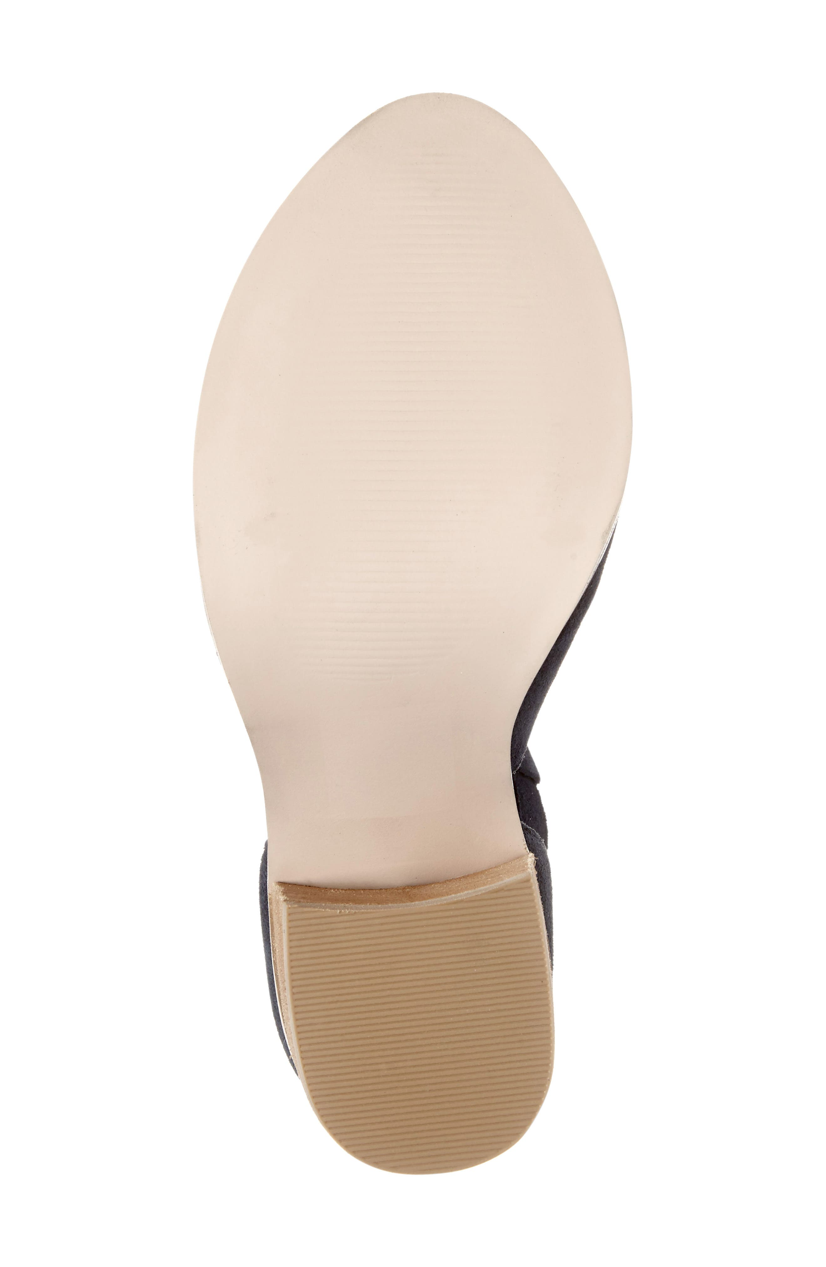SOLE SOCIETY, 'Ferris' Open Toe Bootie, Alternate thumbnail 6, color, INK SUEDE