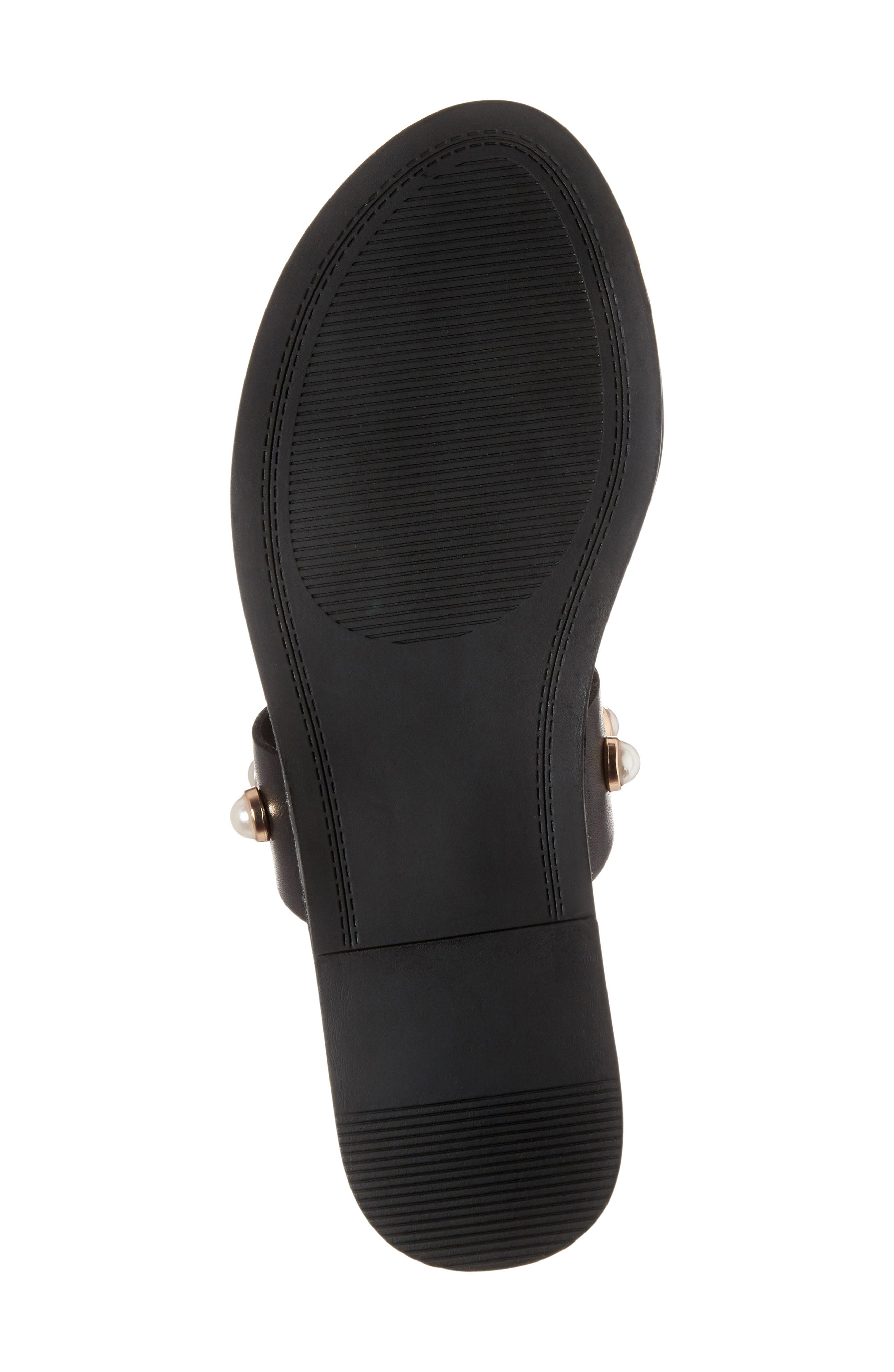 STEVE MADDEN, Jole Embellished Slide Sandal, Alternate thumbnail 6, color, 001