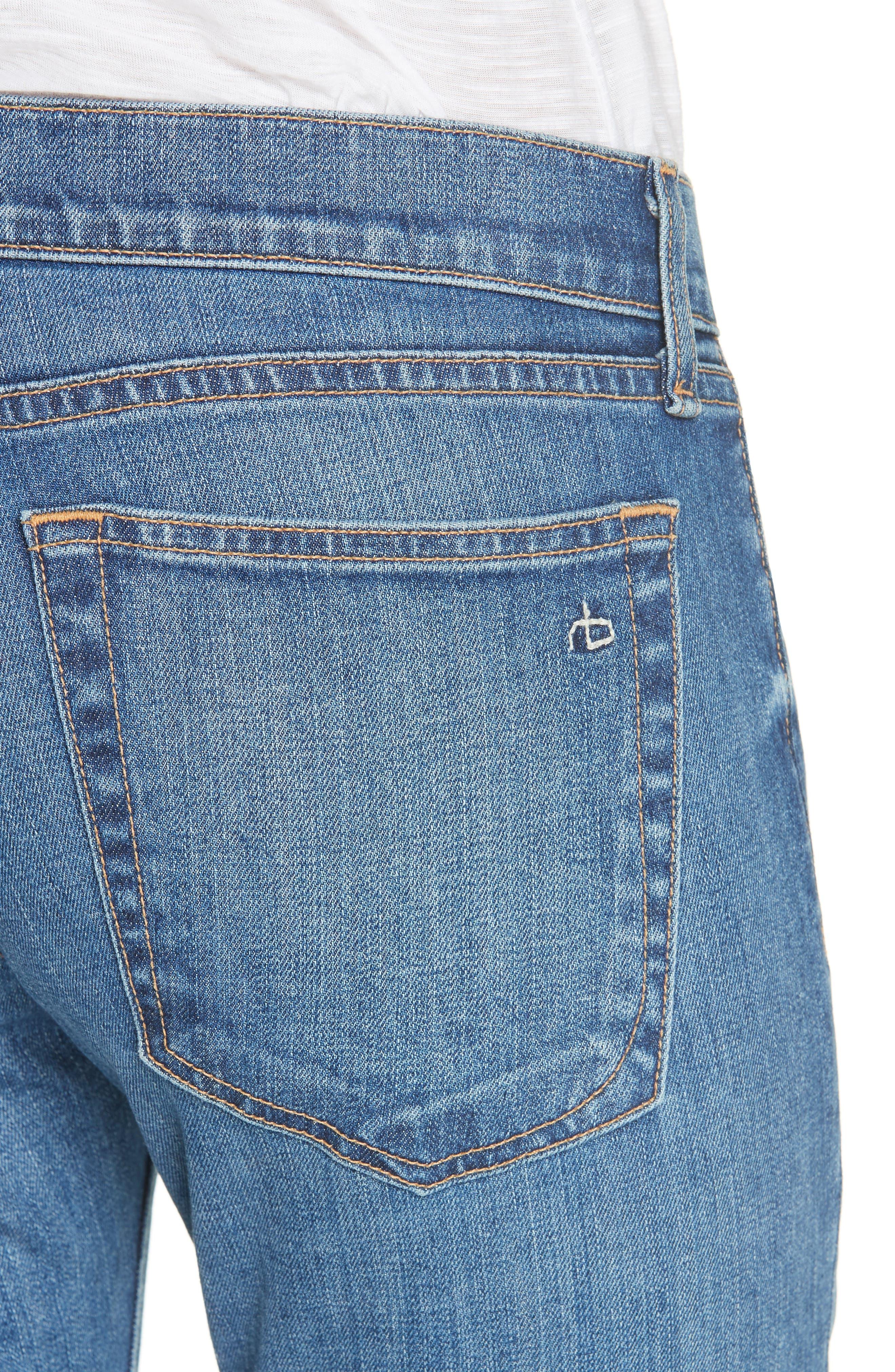 RAG & BONE, Dre Slim Fit Boyfriend Jeans, Alternate thumbnail 5, color, EL