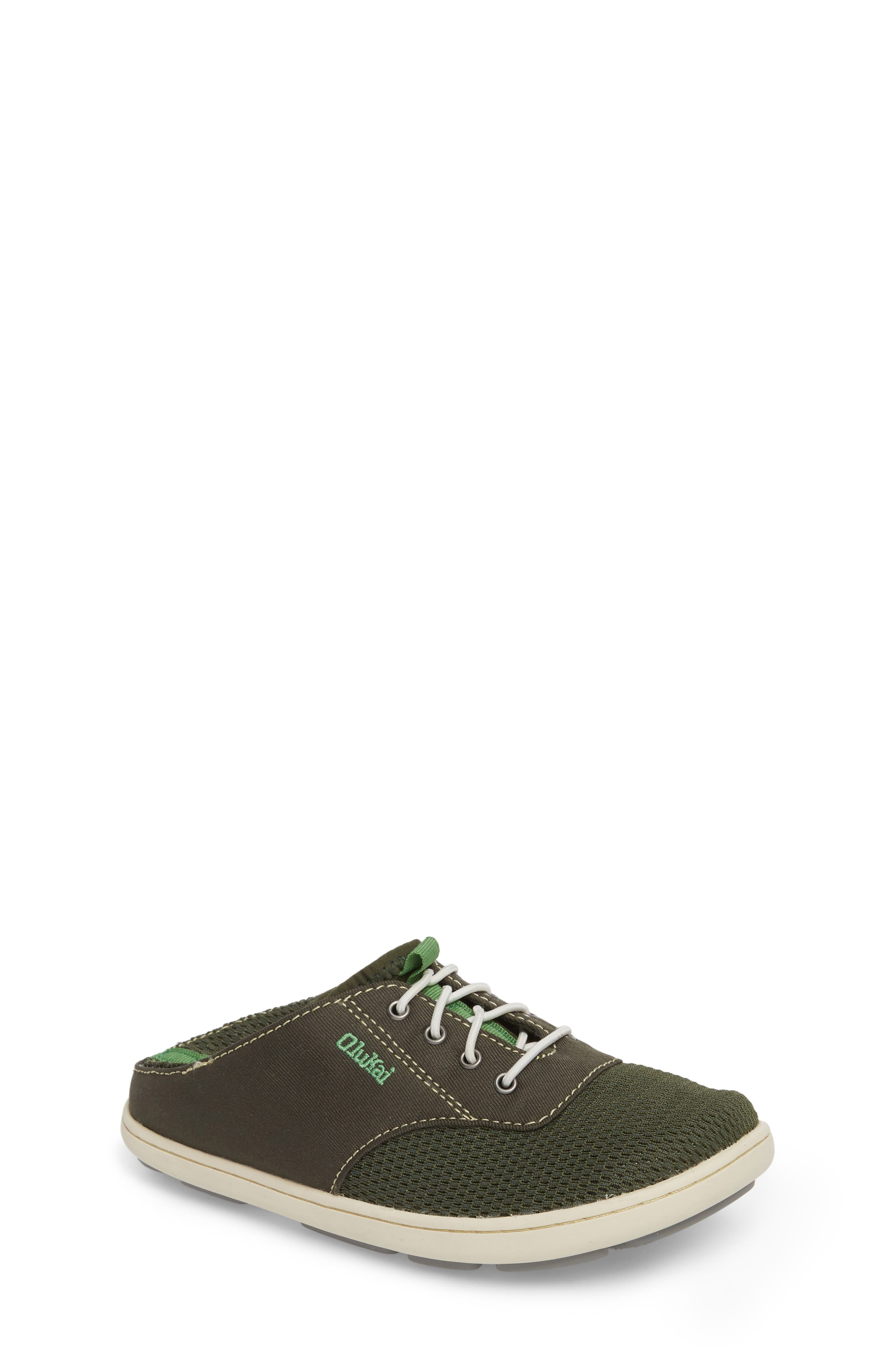 OLUKAI Nohea Moku Water Resistant Shoe, Main, color, SEA GRASS/ SEA GRASS