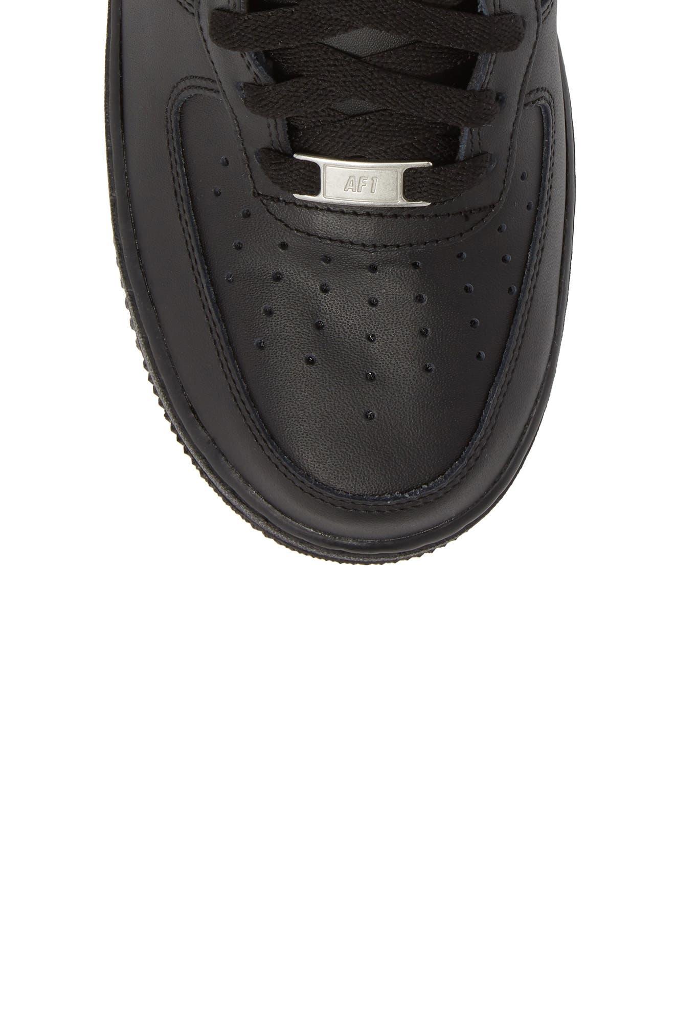 NIKE, Air Force 1 Mid '07 Sneaker, Alternate thumbnail 5, color, BLACK/ BLACK