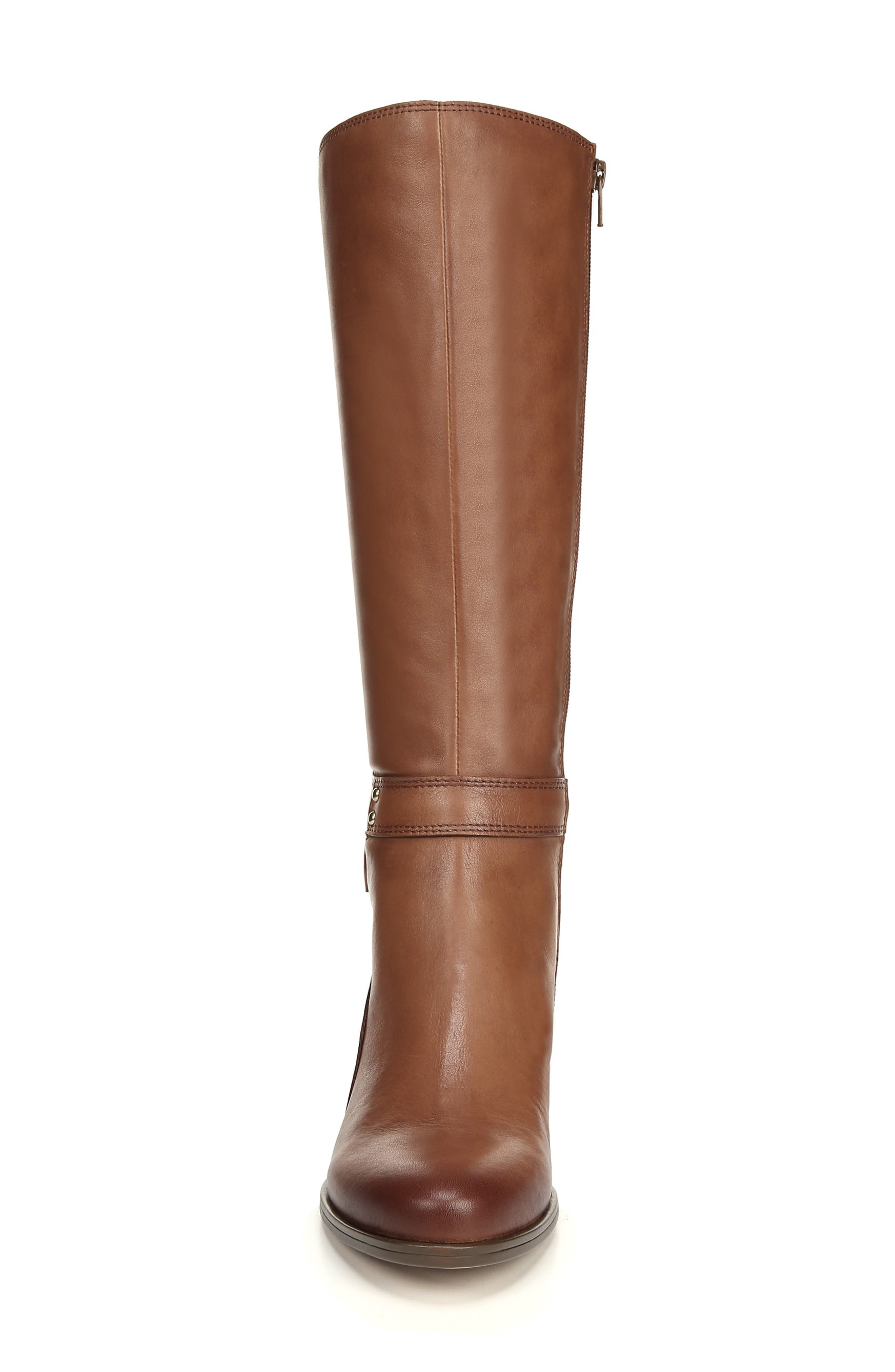 NATURALIZER, Dane Knee High Riding Boot, Alternate thumbnail 4, color, MAPLE LEATHER