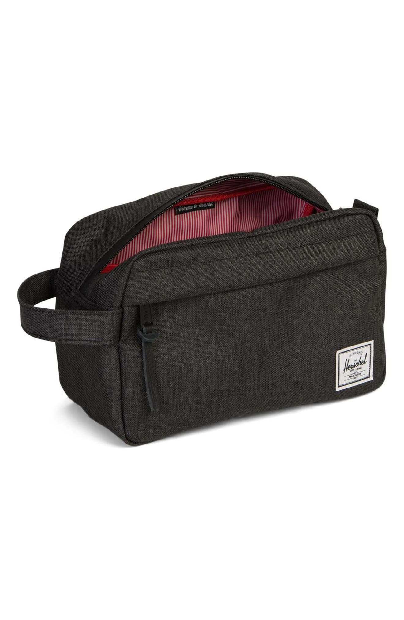 HERSCHEL SUPPLY CO., Chapter Dopp Kit, Alternate thumbnail 2, color, BLACK CROSSHATCH