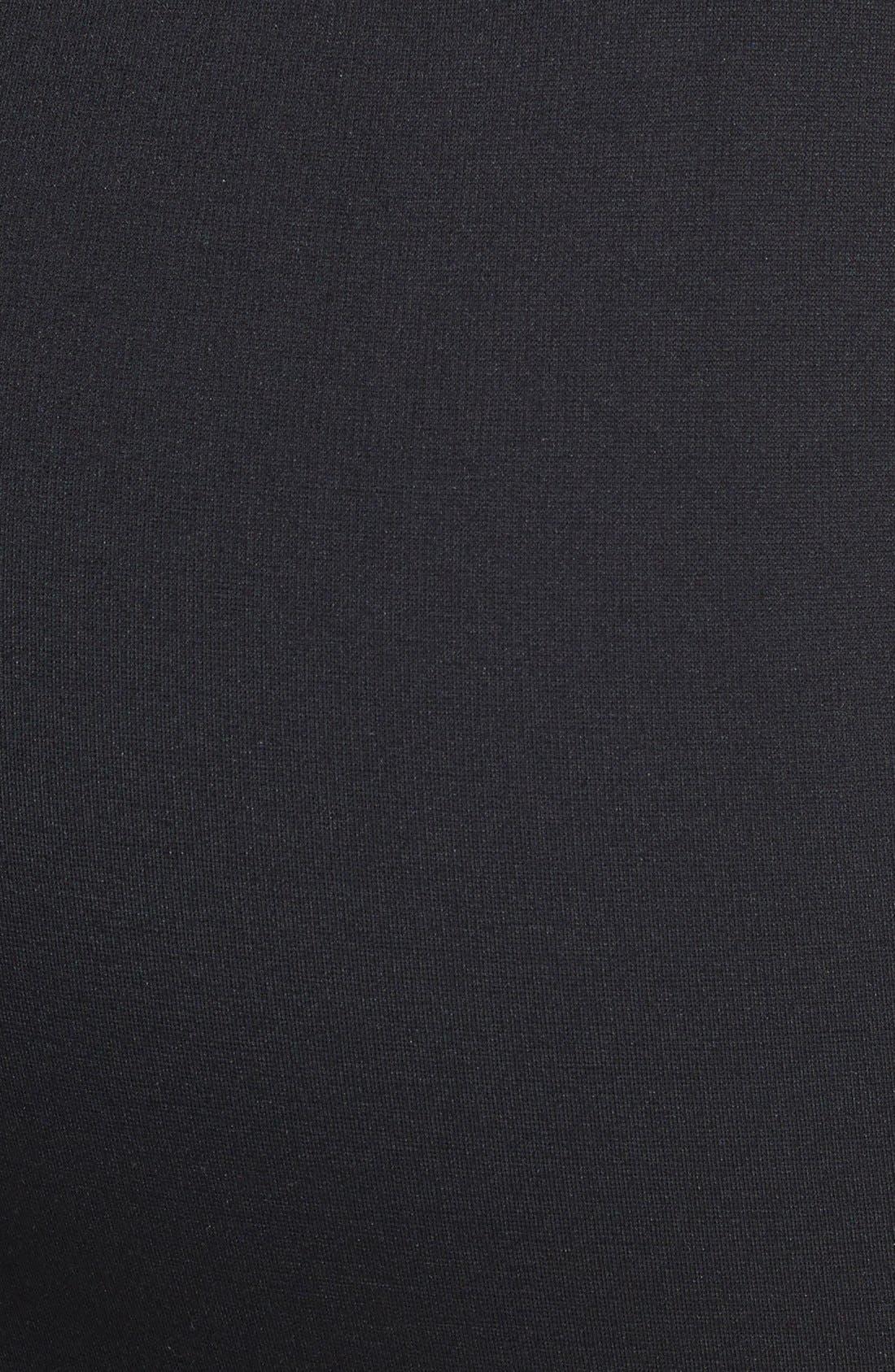 CITY CHIC, Back Zip Tube Skirt, Alternate thumbnail 3, color, BLACK