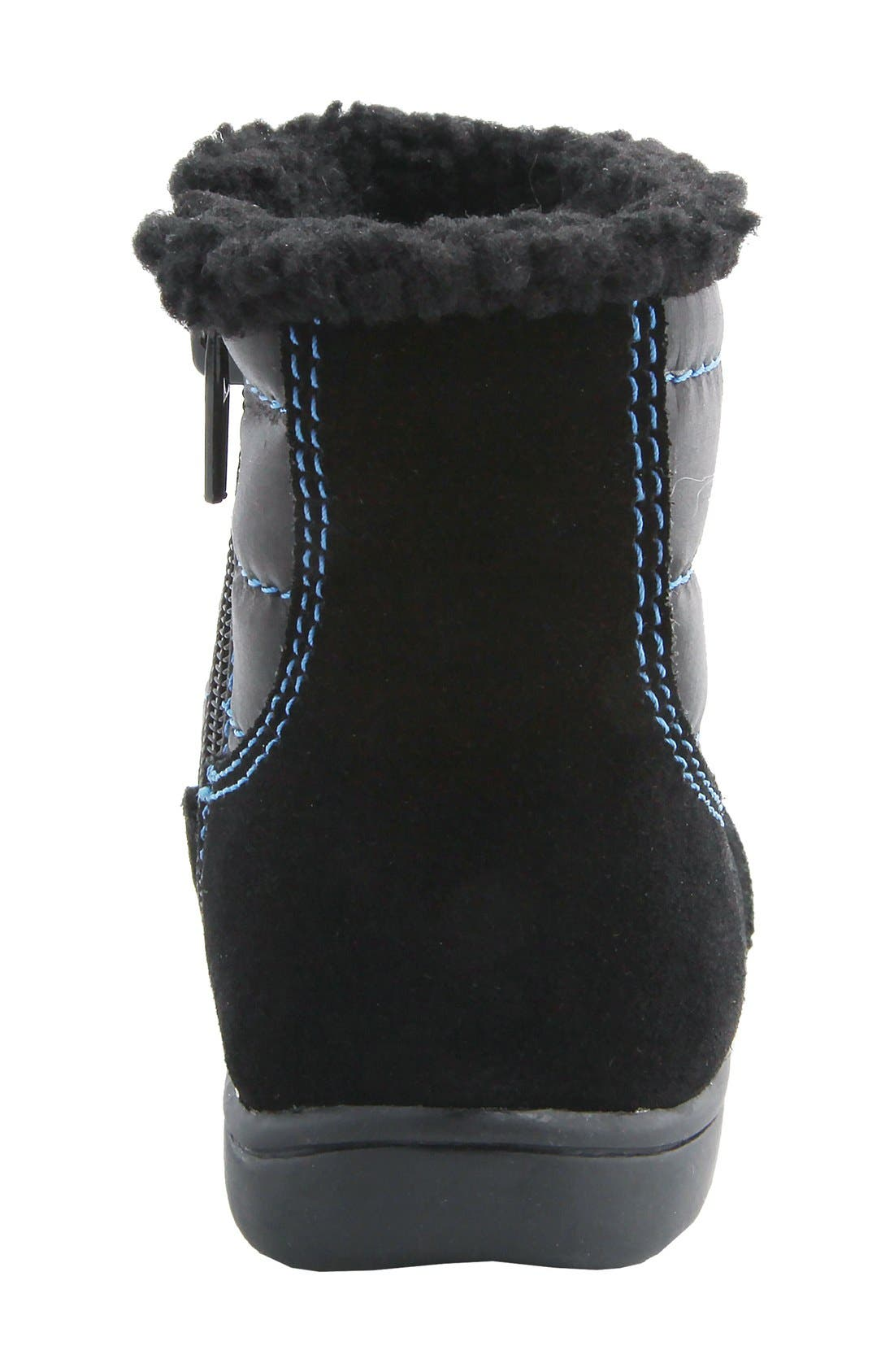 MOBILITY, Nina 'Yolie' Lace-Up Boot, Alternate thumbnail 4, color, BLACK
