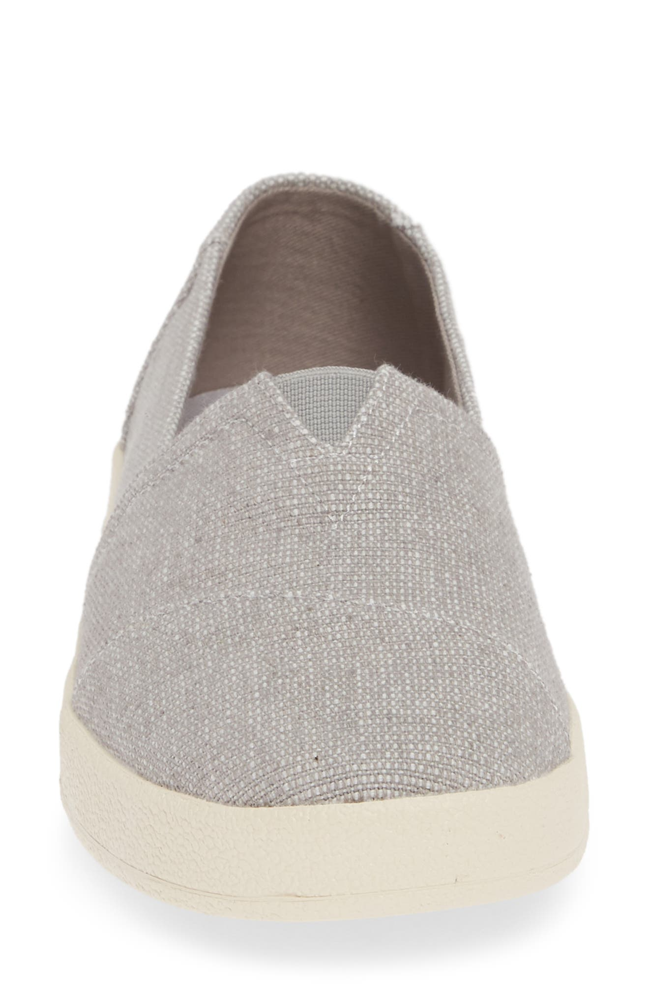 TOMS, Avalon Slip-On Sneaker, Alternate thumbnail 4, color, DRIZZLE GREY CANVAS