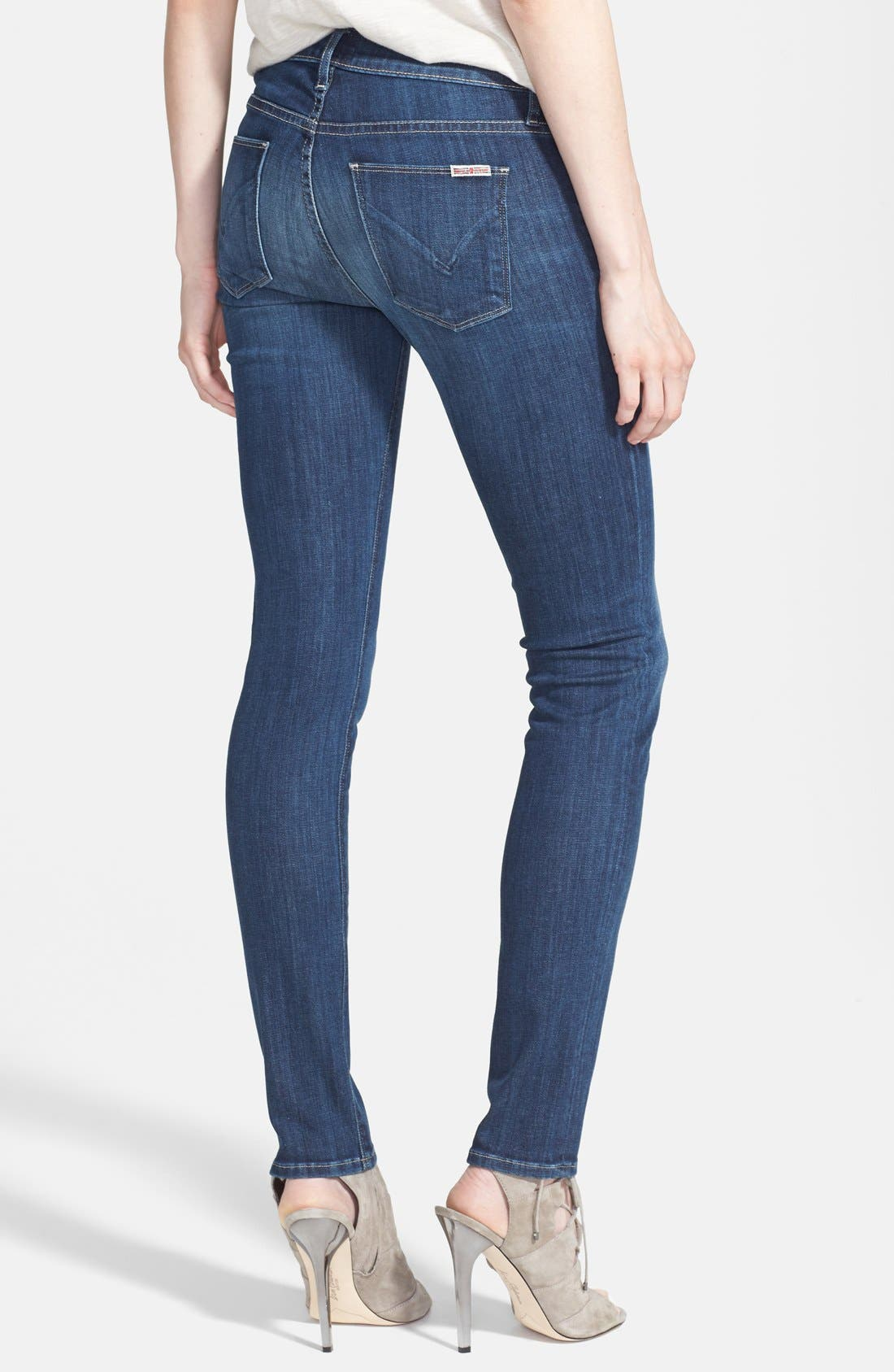 HUDSON JEANS, 'Collette' Skinny Jeans, Alternate thumbnail 5, color, 400