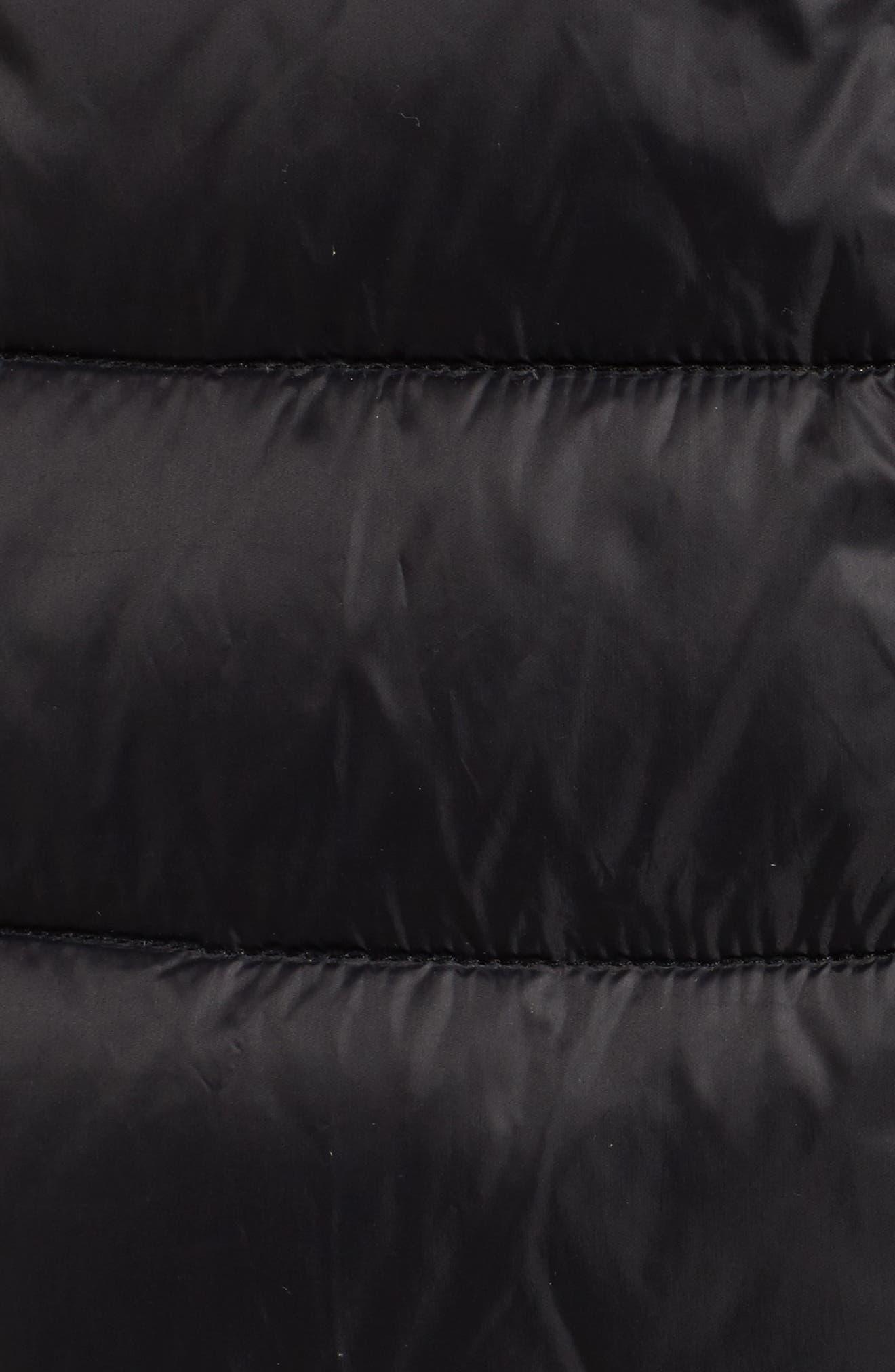 BERNARDO, Hooded Packable Down & PrimaLoft<sup>®</sup> Coat, Alternate thumbnail 7, color, BLACK