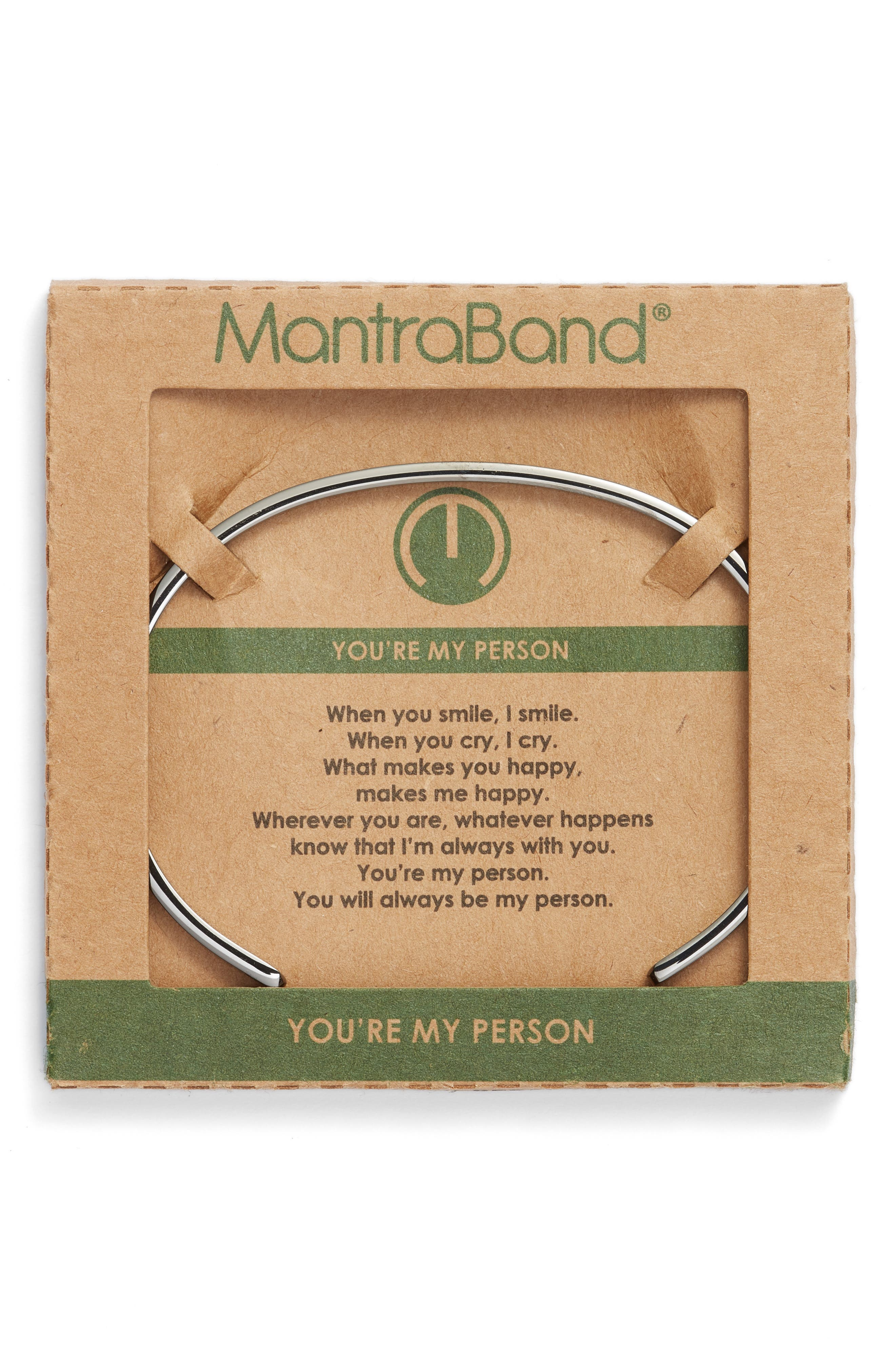 MANTRABAND<SUP>®</SUP>, MantraBand You're My Person Cuff, Alternate thumbnail 2, color, 021