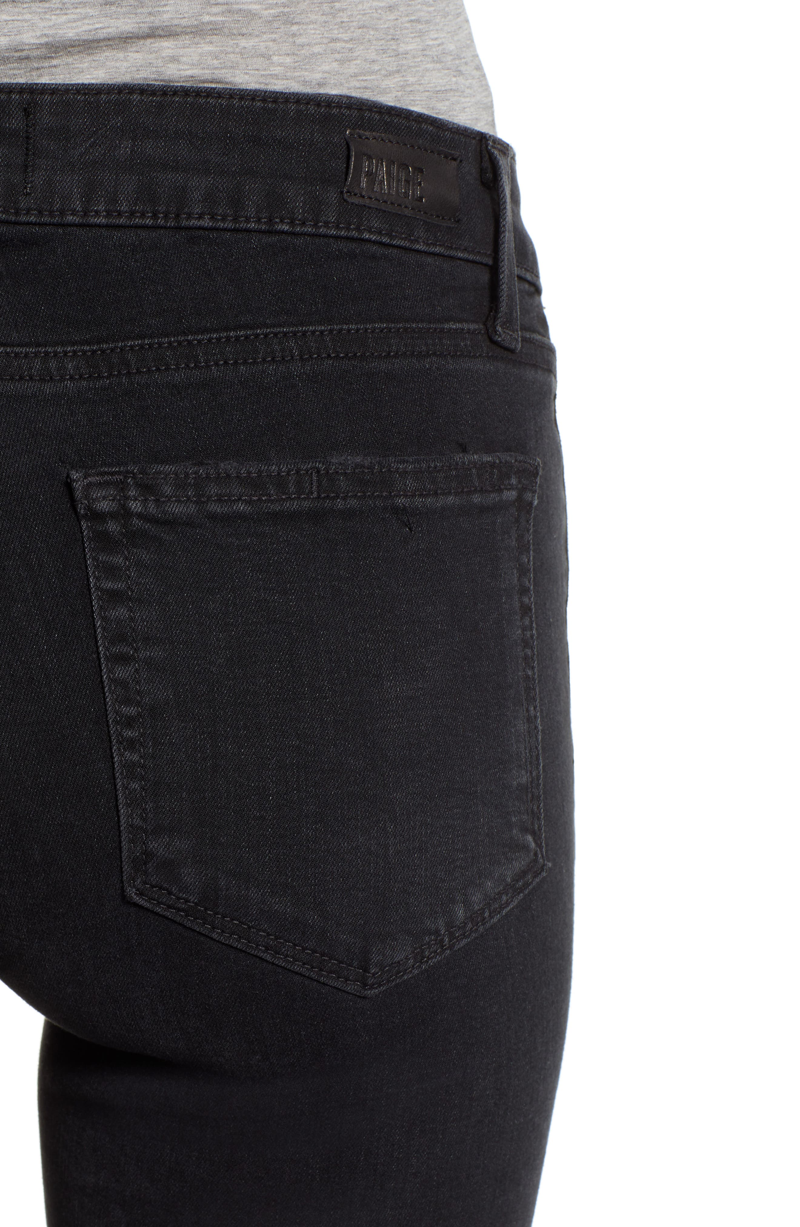 PAIGE, Transcend - Verdugo Ankle Skinny Jeans, Alternate thumbnail 5, color, 001