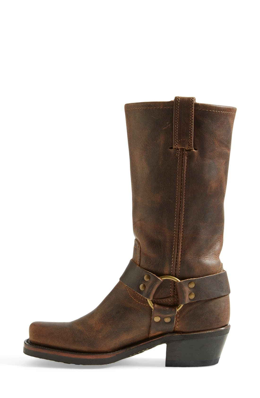 FRYE, 'Harness 12R' Leather Boot, Alternate thumbnail 2, color, TAN