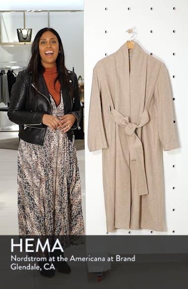 Wool Blend Wrap Coat, sales video thumbnail