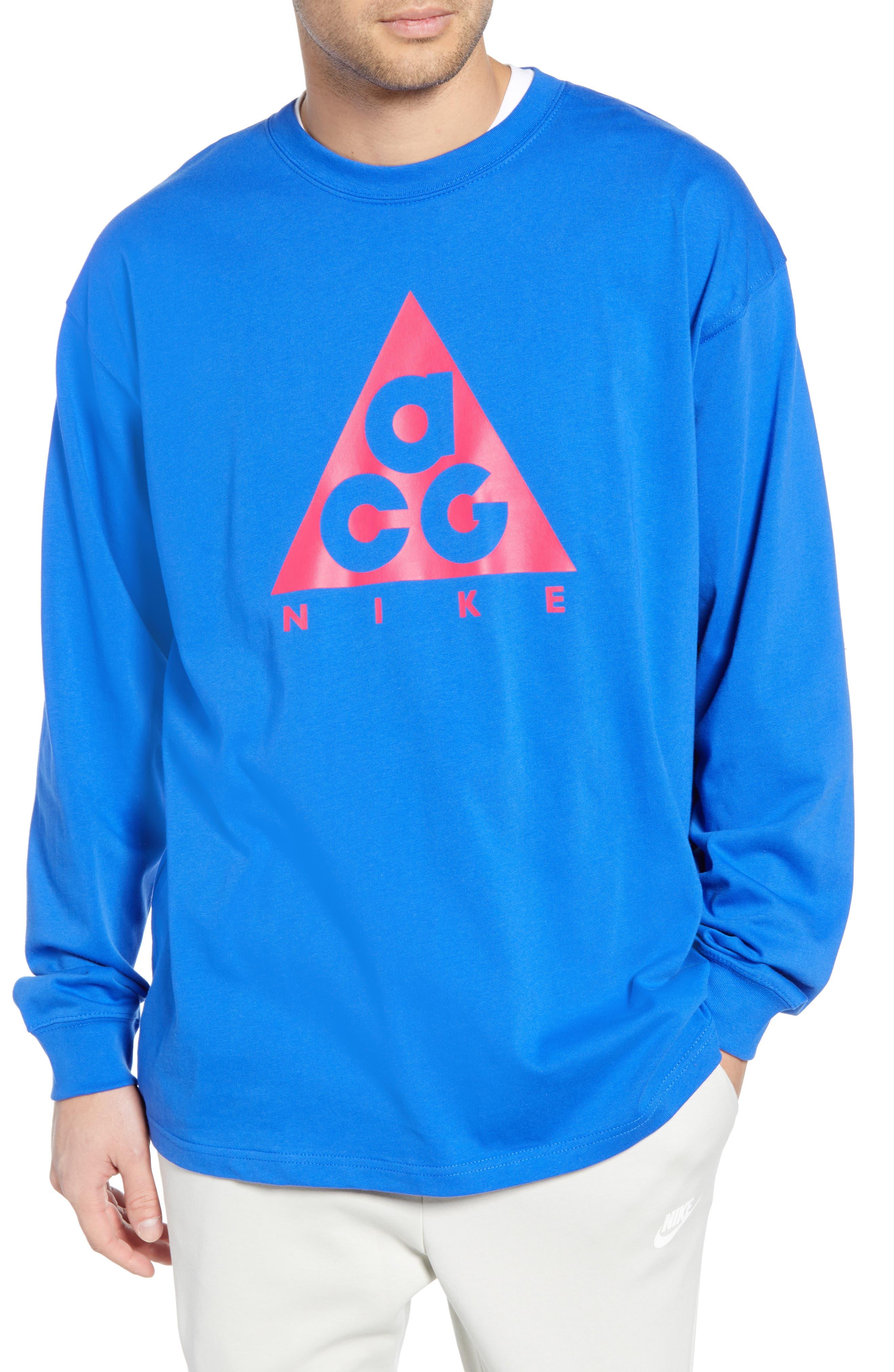 Nike Nrg All Conditions Gear Logo T-Shirt, Blue