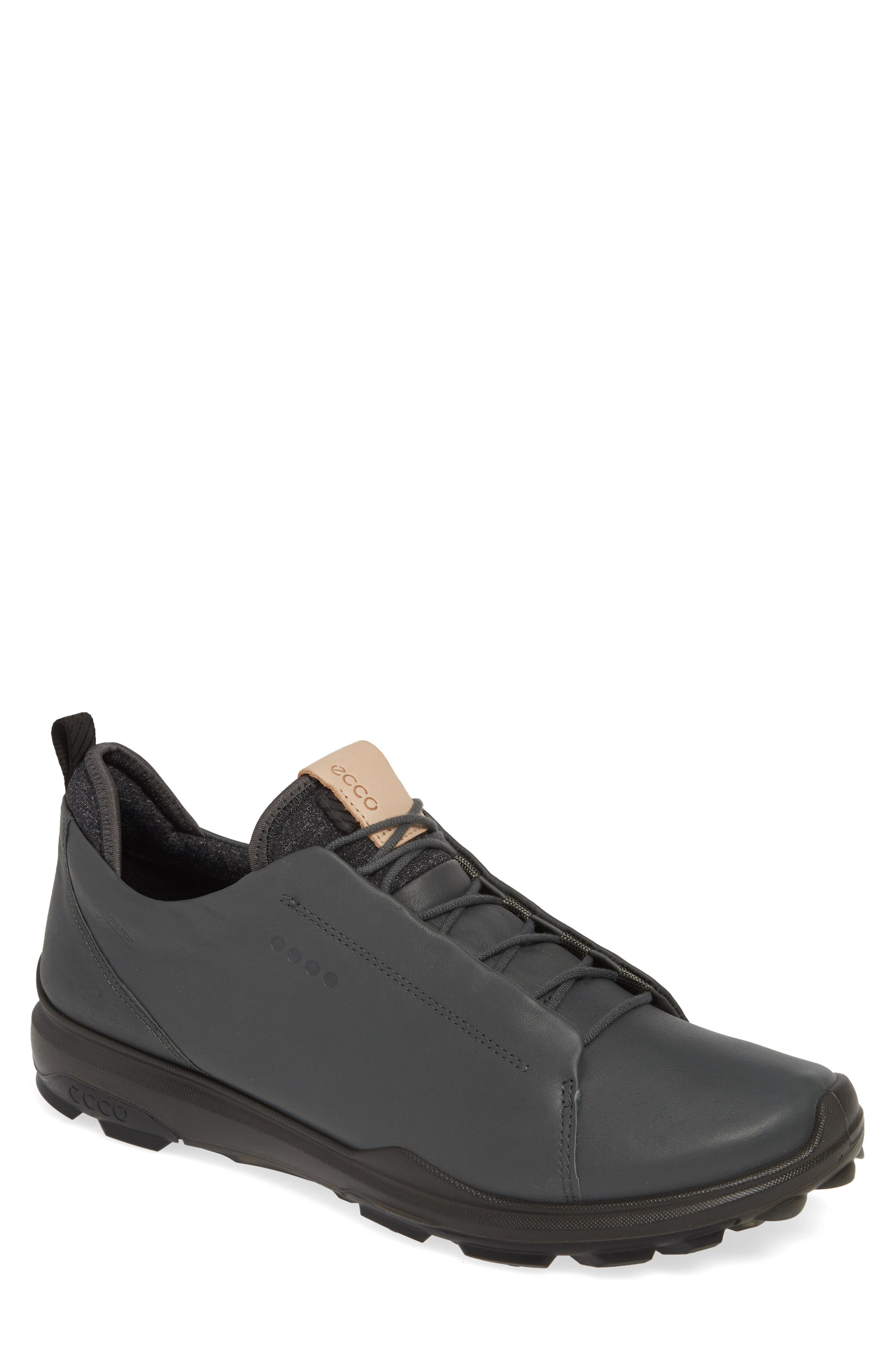 ECCO BIOM<sup>®</sup> Hybrid 3 OL Gore-Tex<sup>®</sup> Golf Shoe, Main, color, DARK SHADOW LEATHER