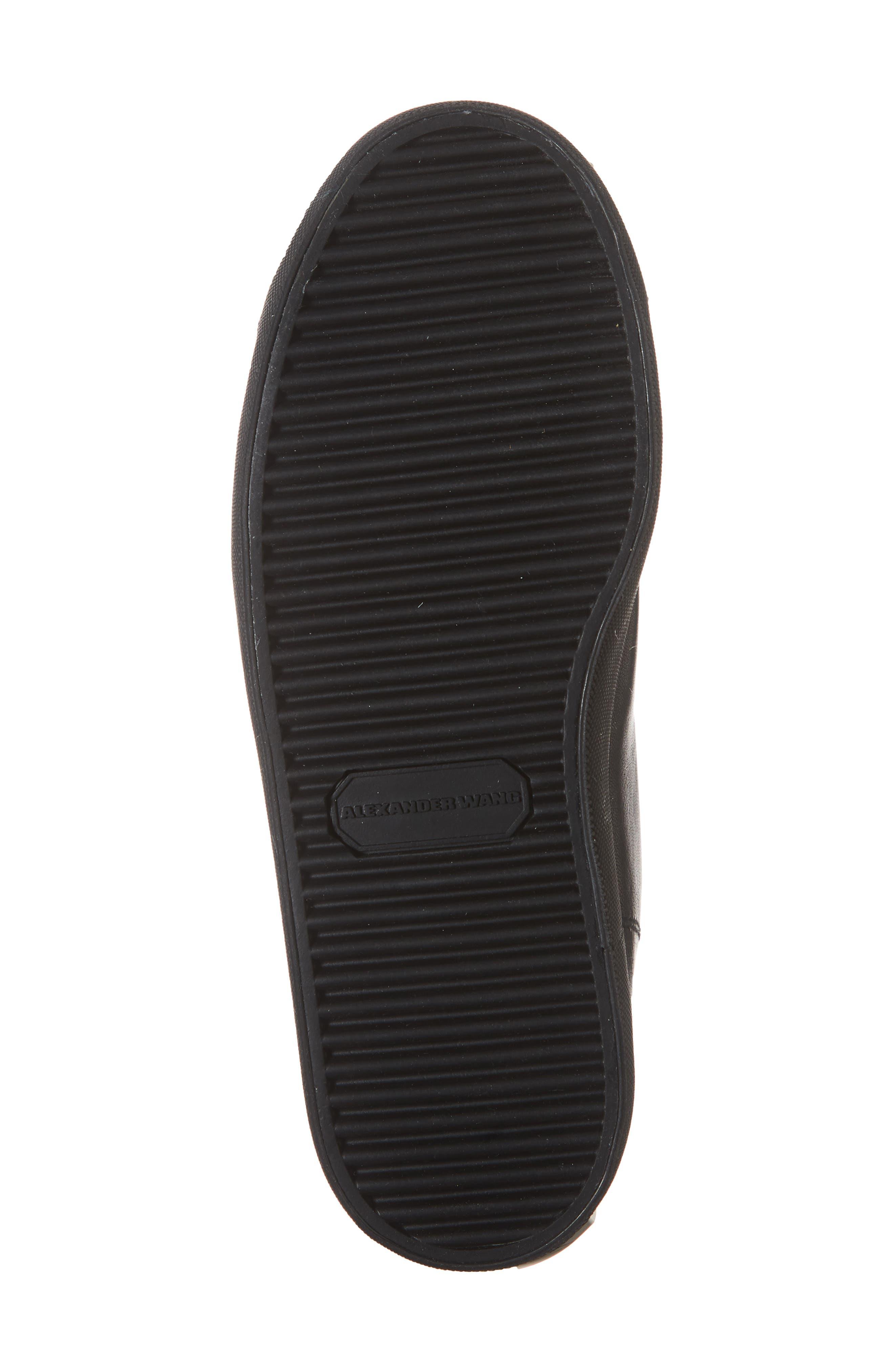 ALEXANDER WANG, Pia High Top Sneaker, Alternate thumbnail 6, color, BLACK