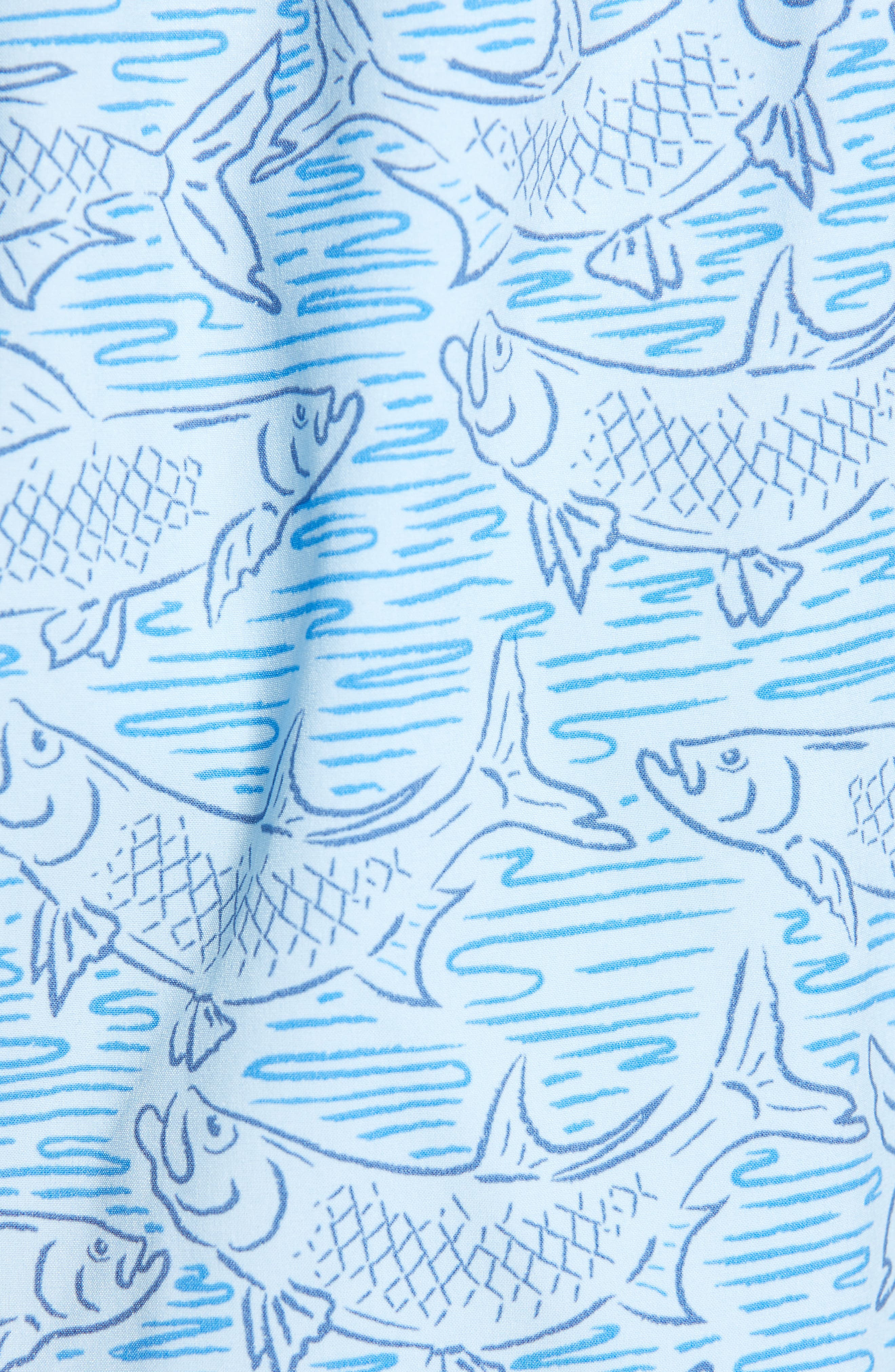 VINEYARD VINES, Chappy Tarpon Stretch Swim Trunks, Alternate thumbnail 5, color, JAKE BLUE