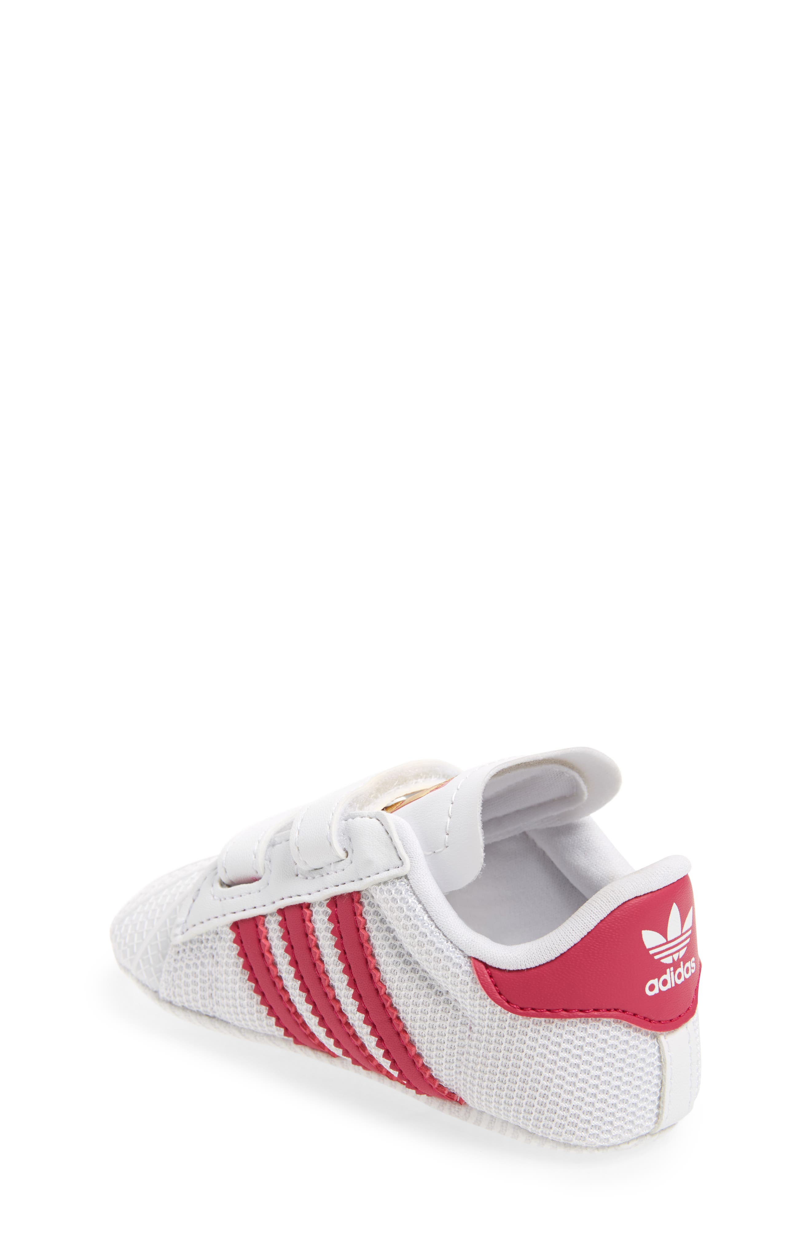 ADIDAS, Superstar Sneaker, Alternate thumbnail 2, color, WHITE/ PINK
