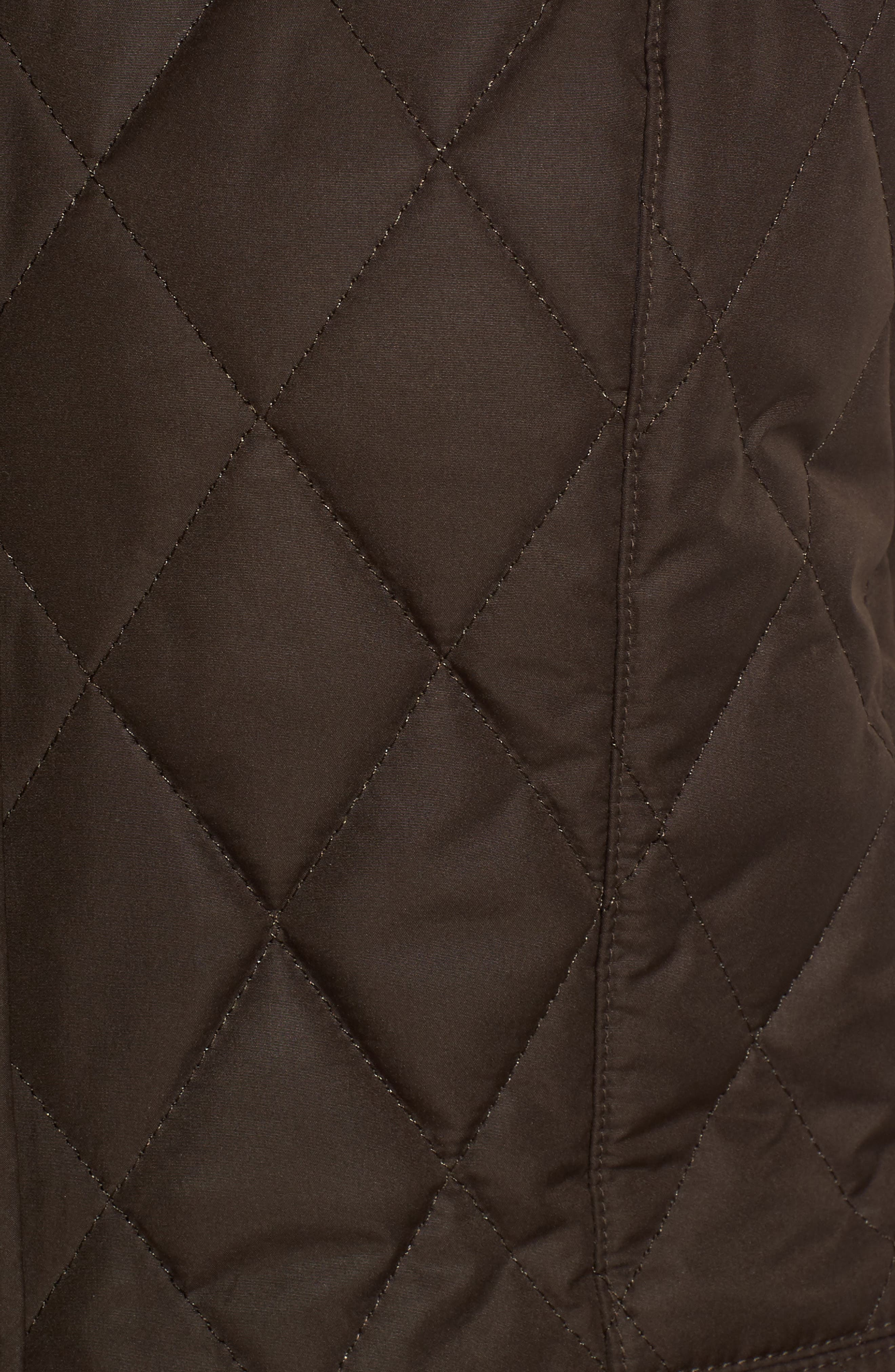 BARBOUR, Saddleworth Quilted Vest, Alternate thumbnail 6, color, 340