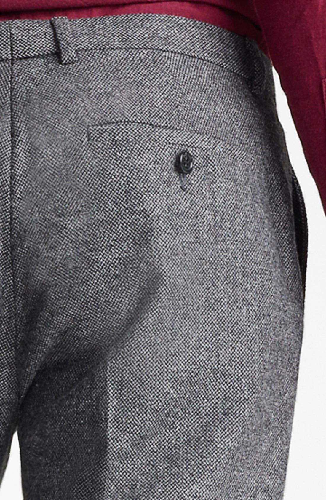 TOPMAN, 'Vento' Tweed Skinny Trousers, Alternate thumbnail 2, color, 020