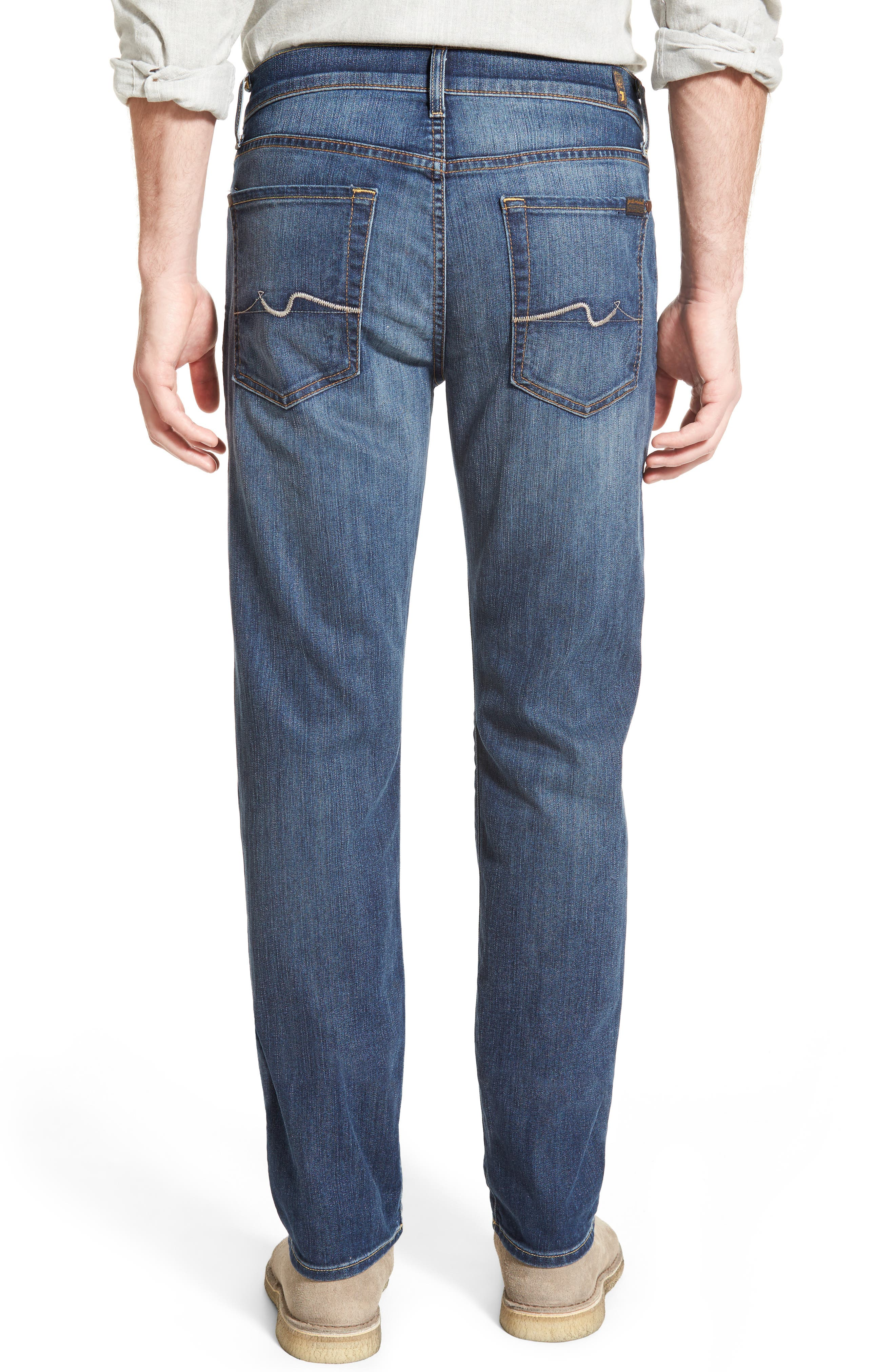 7 FOR ALL MANKIND<SUP>®</SUP>, 'Slimmy - Luxe Performance' Slim Fit Jeans, Alternate thumbnail 2, color, AIR WEFT COMMOTION