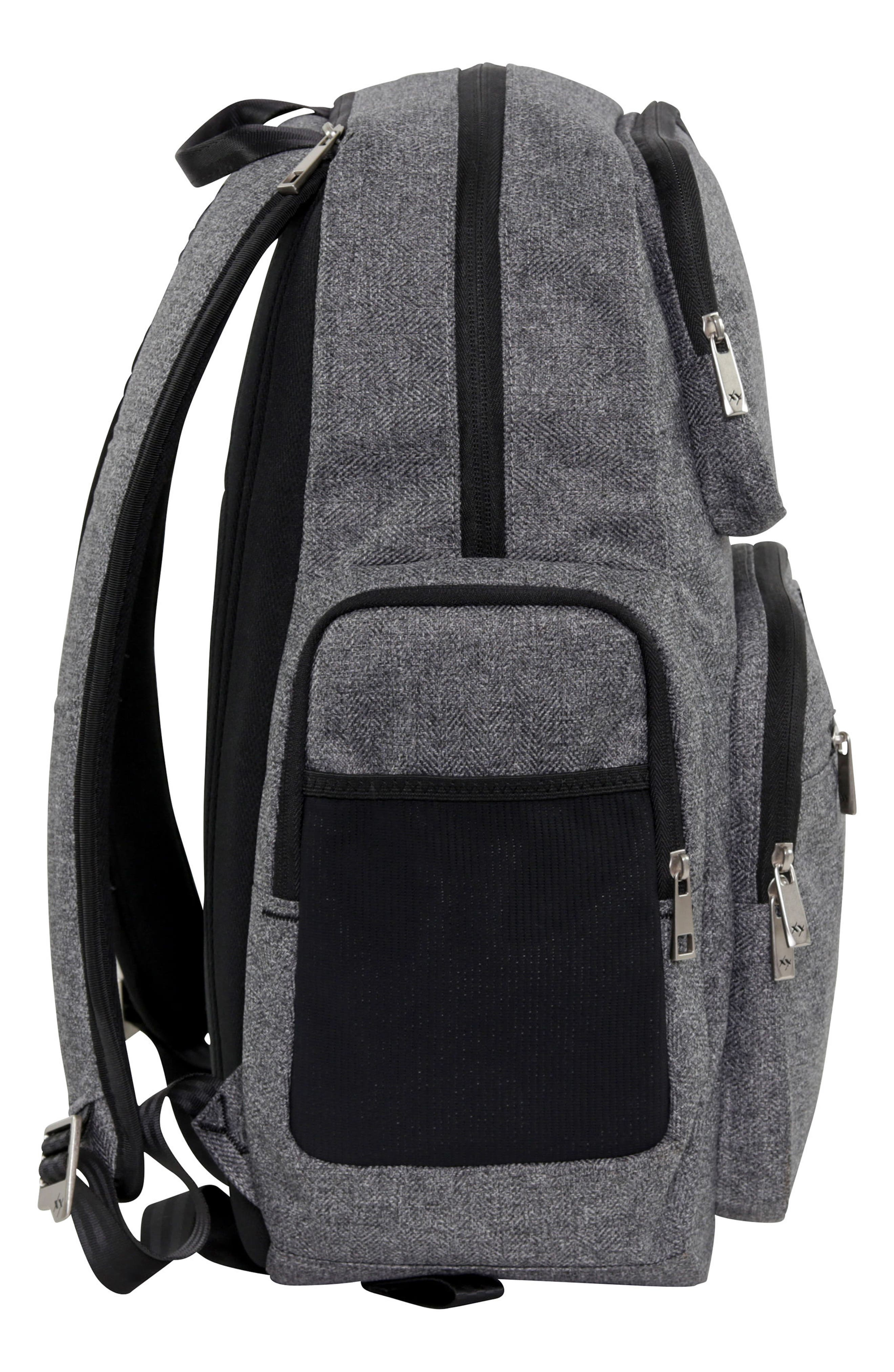 JU-JU-BE, XY Vector Diaper Backpack, Alternate thumbnail 3, color, GRAY MATTER