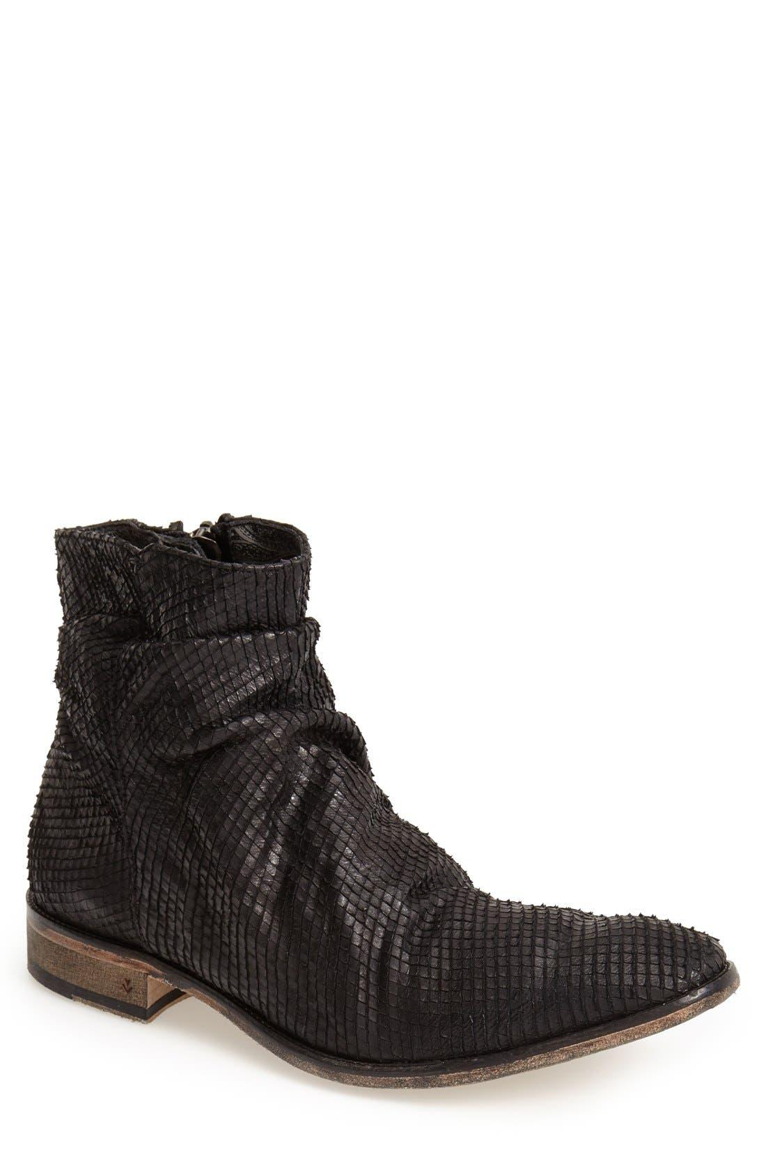 JOHN VARVATOS Collection 'Richards - Sharpei' Zip Boot, Main, color, 001