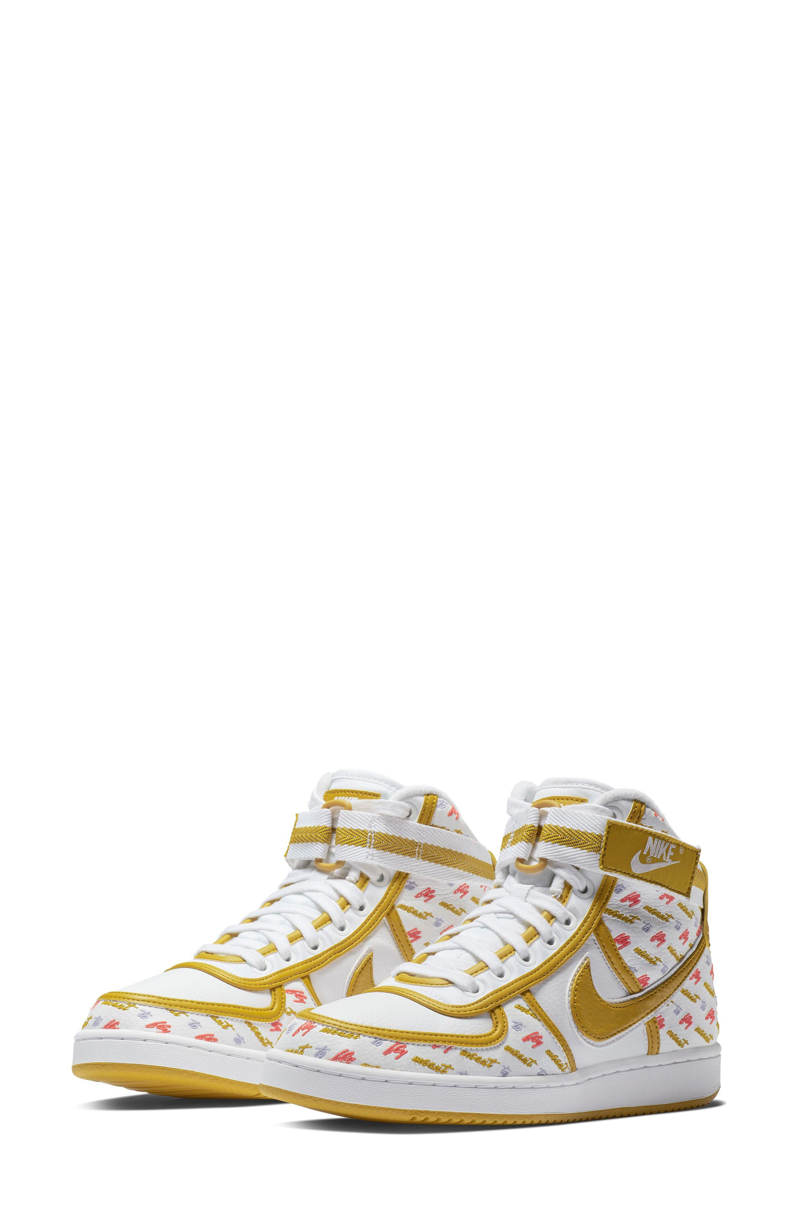 NIKE Vandal High Lux Sneaker, Main, color, WHITE/ CITRON/ TWILIGHT PULSE