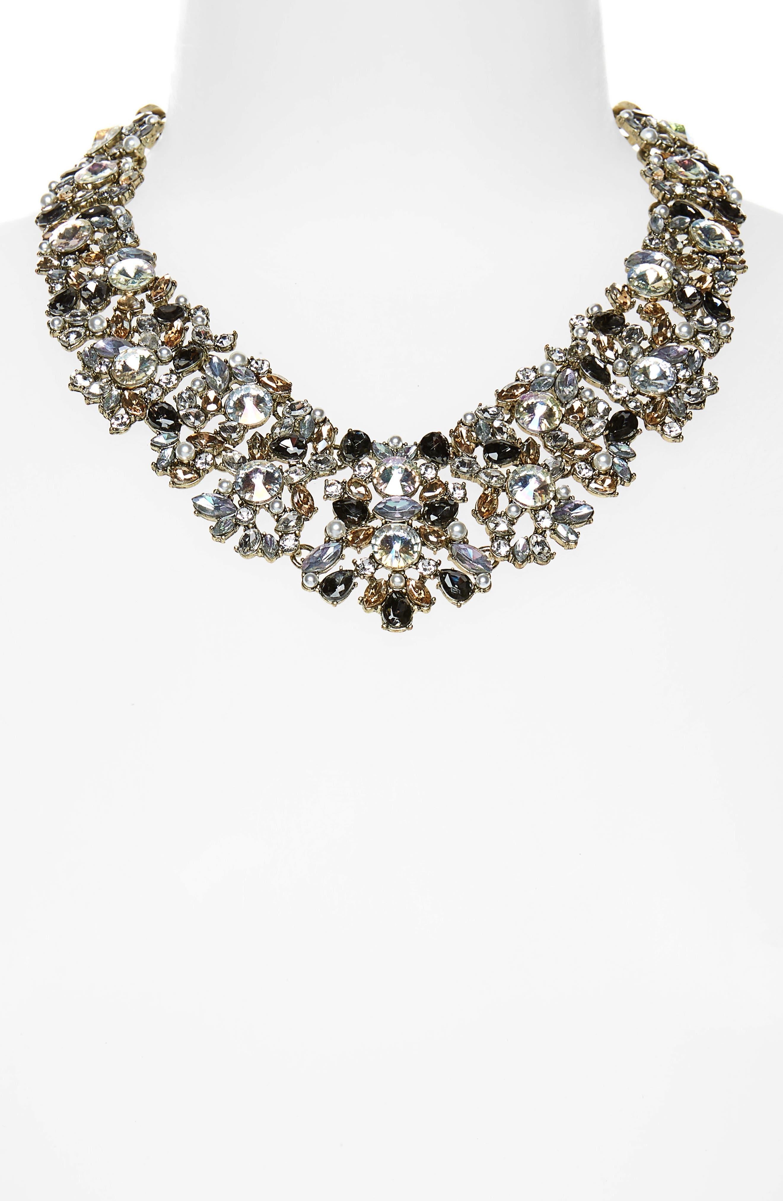 BAUBLEBAR, Crystal Collar Necklace, Alternate thumbnail 2, color, 020