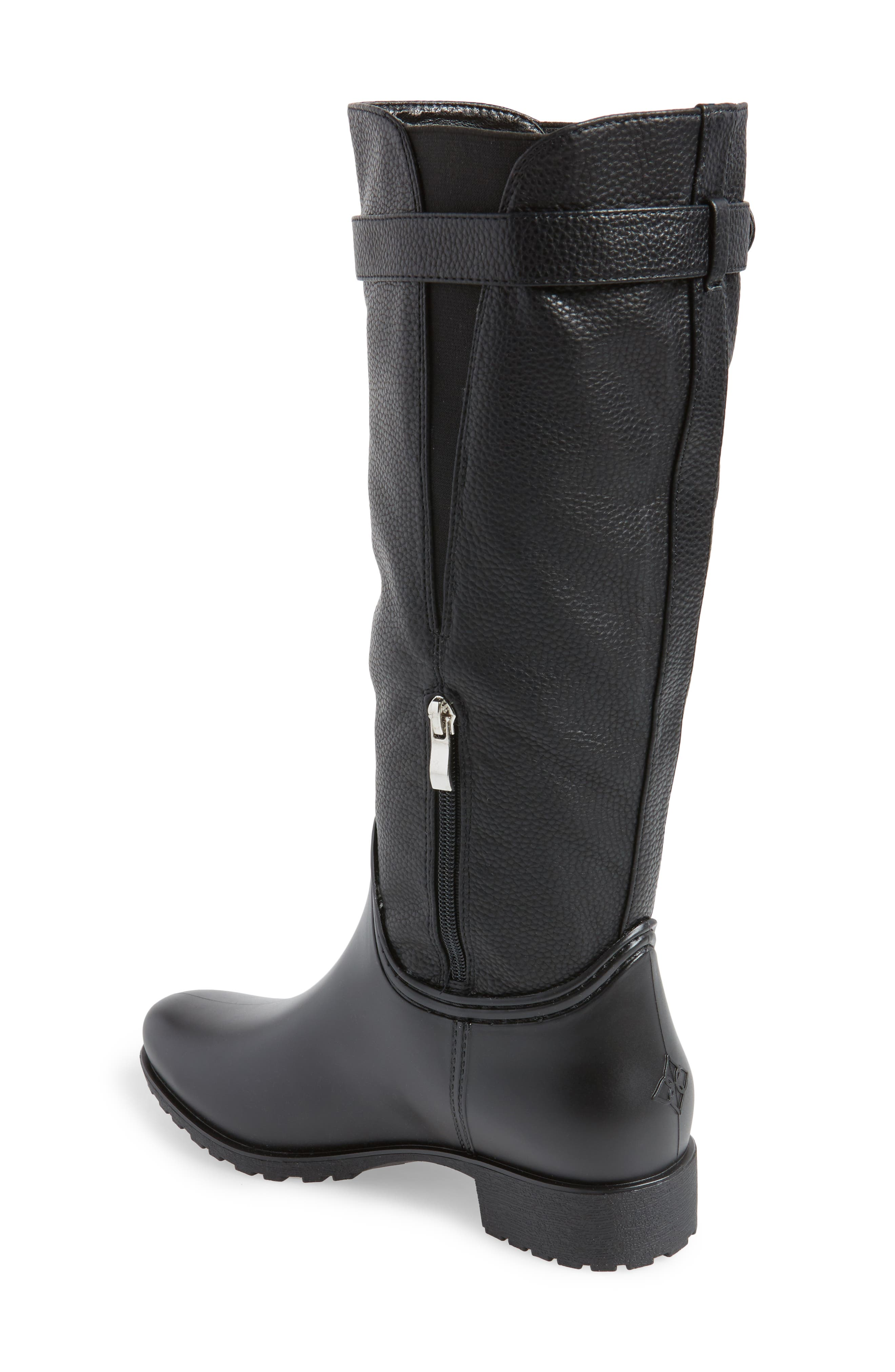 DÄV, Dunkirk Water Resistant Boot, Alternate thumbnail 2, color, BLACK