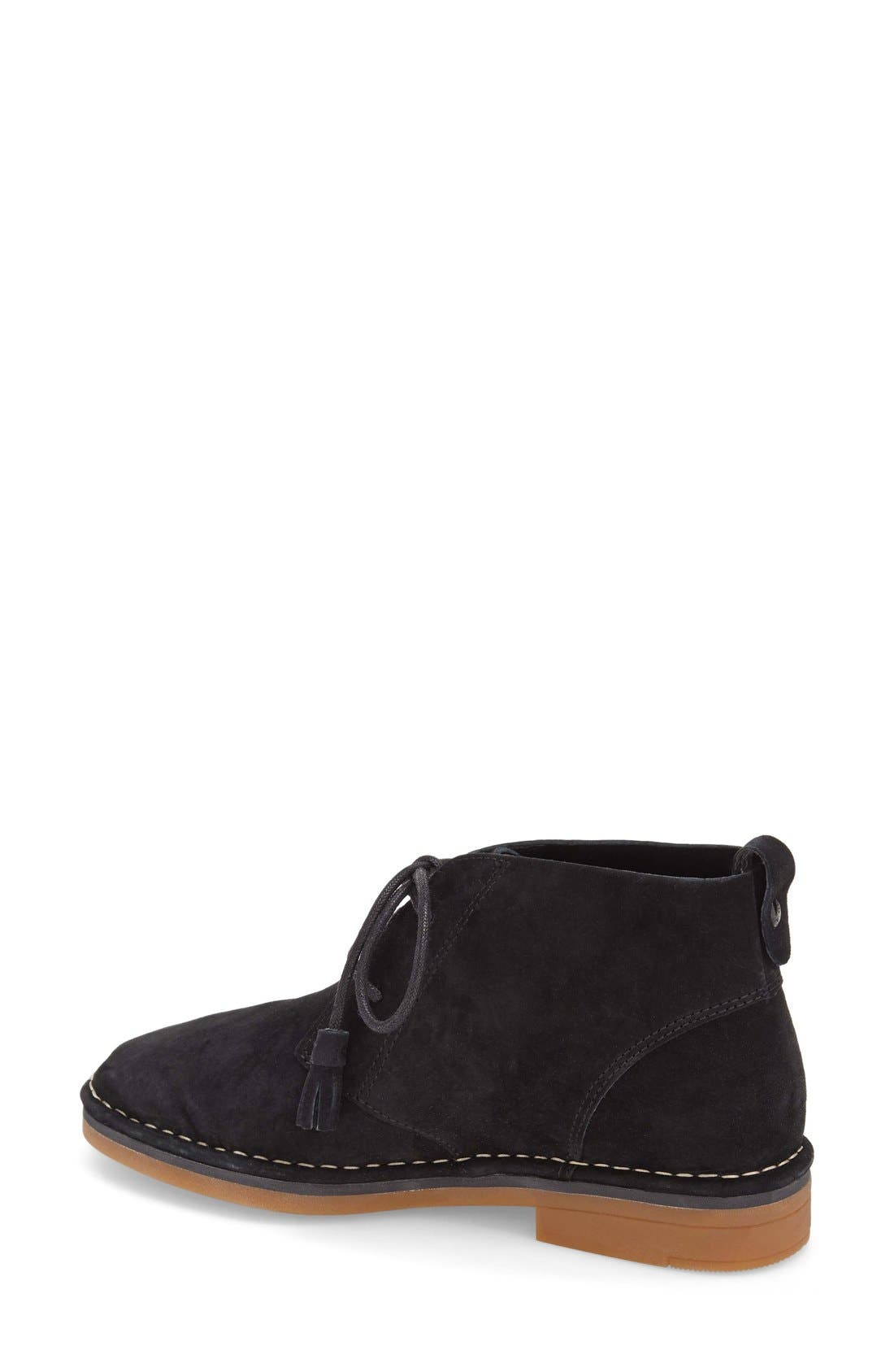 HUSH PUPPIES<SUP>®</SUP>, Cyra Catelyn Chukka Boot, Alternate thumbnail 3, color, BLACK SUEDE