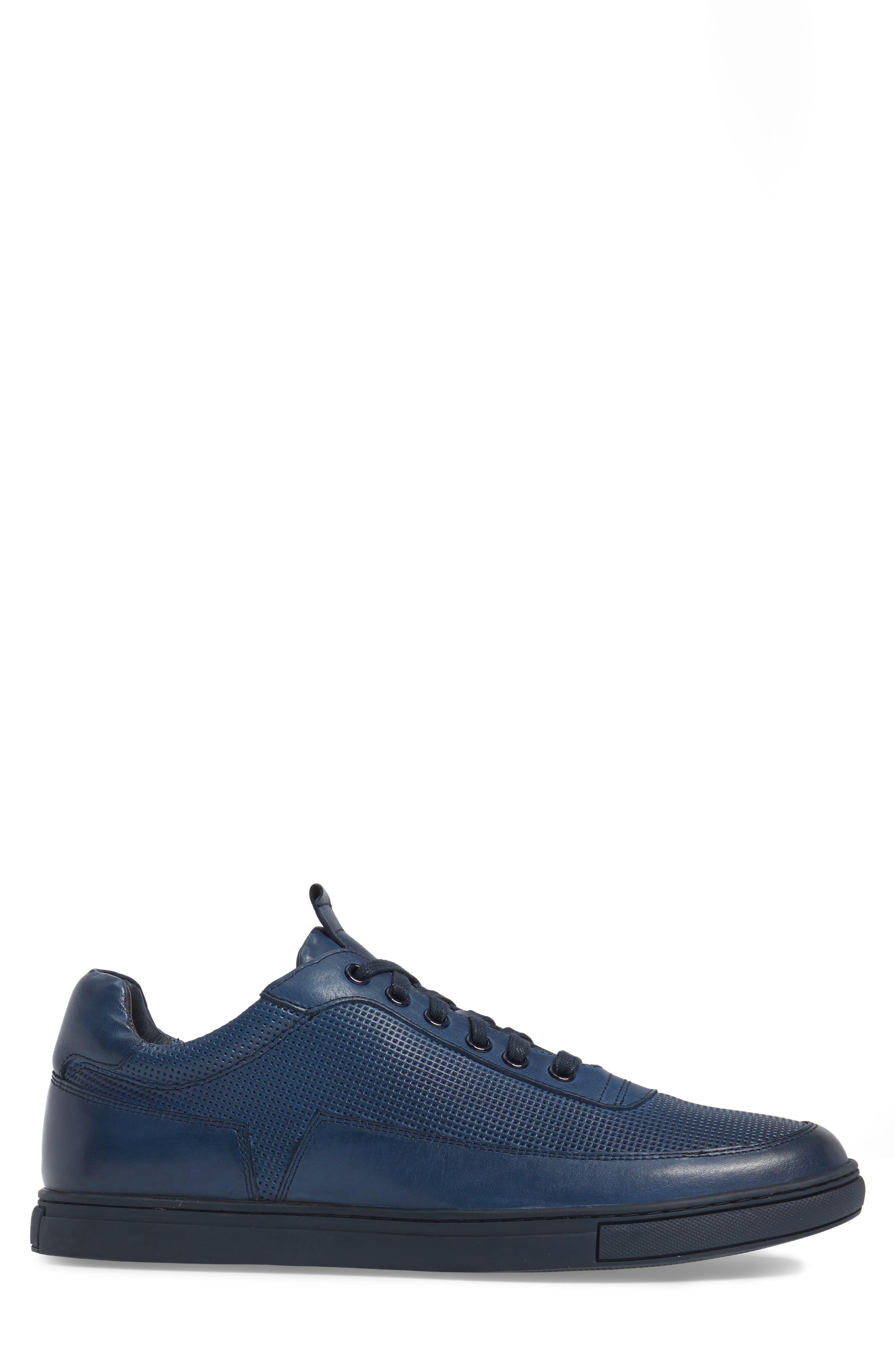 ZANZARA, Harmony Sneaker, Alternate thumbnail 3, color, BLUE LEATHER