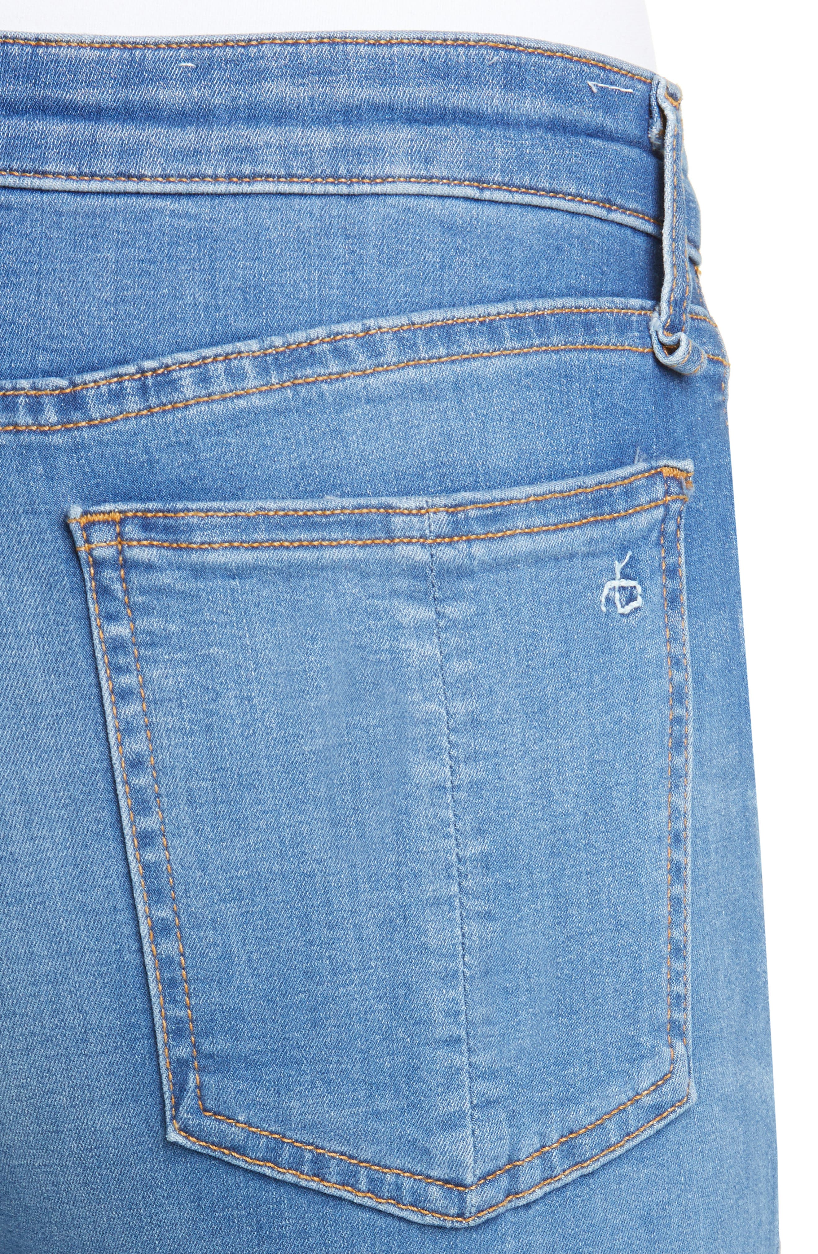 RAG & BONE, Cate High Waist Ankle Skinny Jeans, Alternate thumbnail 5, color, FLINT