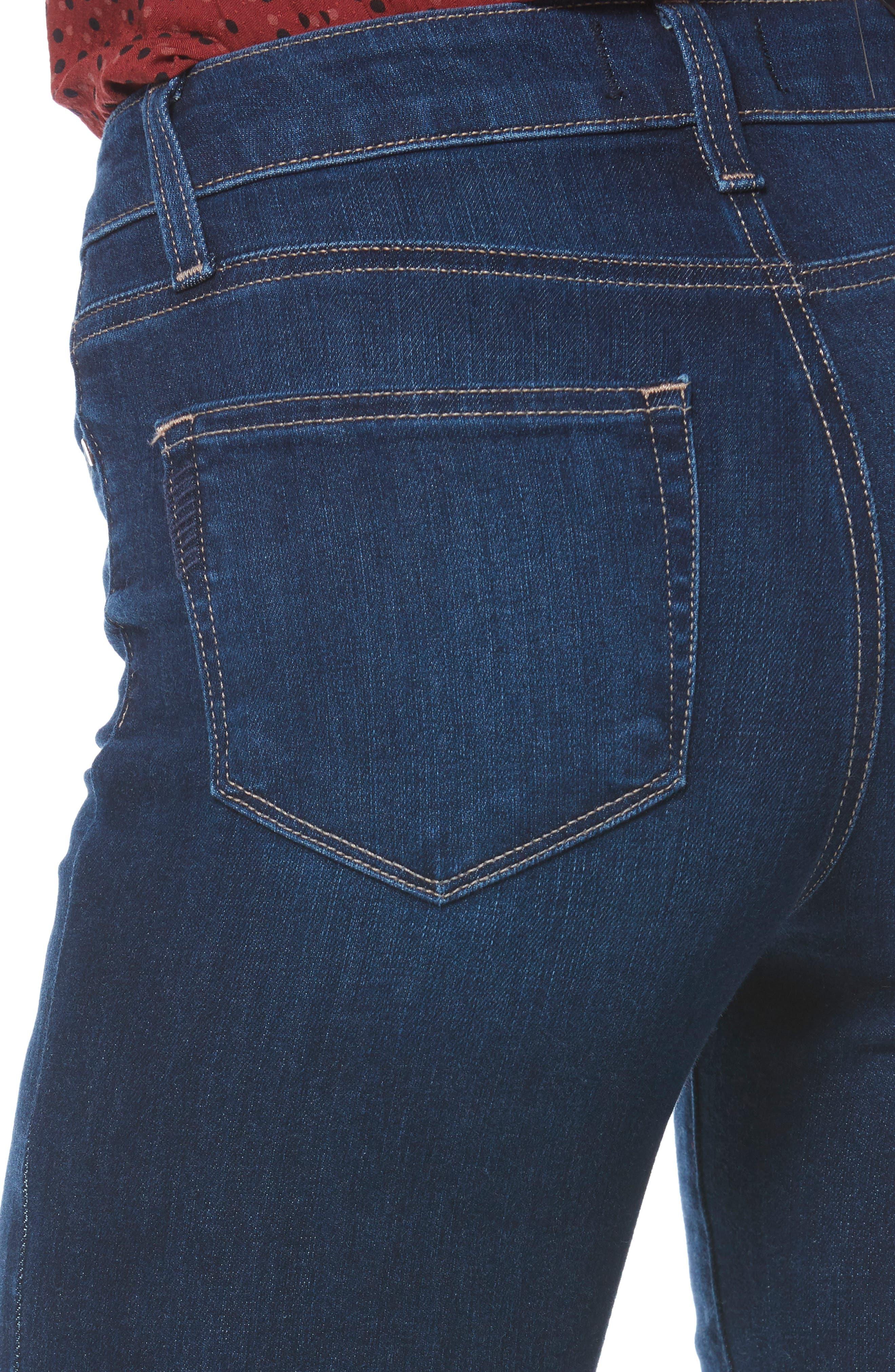 PAIGE, Transcend Vintage - Manhattan Bootcut Jeans, Alternate thumbnail 5, color, 400