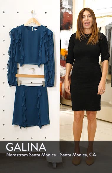A Girl Can Dream Two-Piece Ruffle Trim Dress, sales video thumbnail