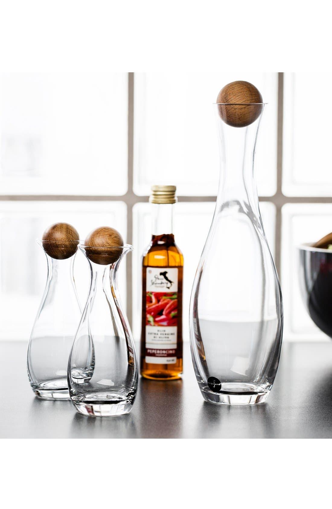 SAGAFORM, White Wine Decanter, Alternate thumbnail 2, color, CLEAR/ WOOD