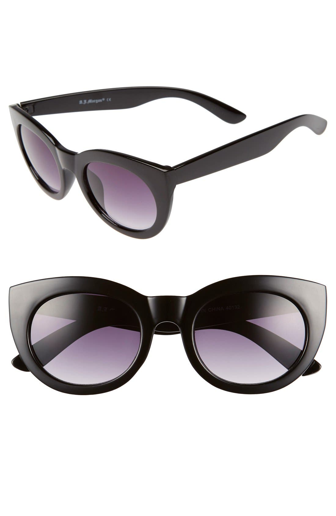 A.J. MORGAN 'Inga' 50mm Sunglasses, Main, color, 001