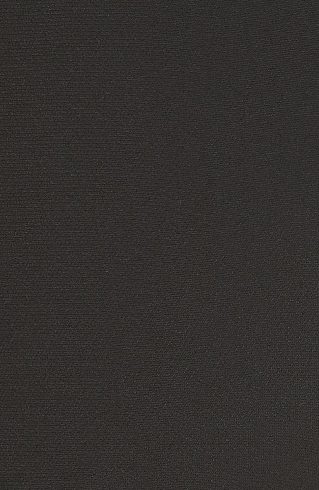 BRANDON MAXWELL, Stretch Crepe Cigarette Pants, Alternate thumbnail 5, color, BLACK