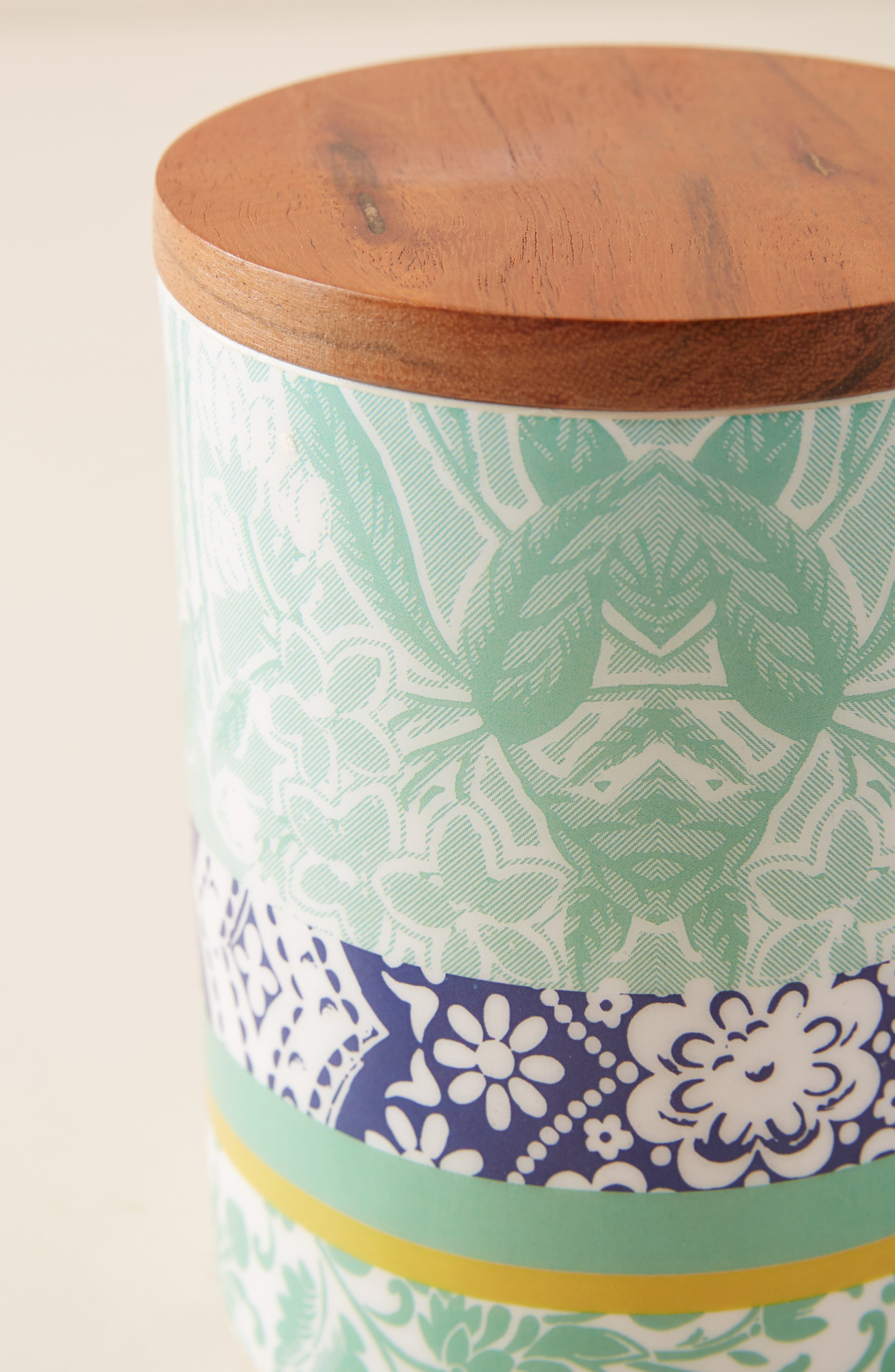 ANTHROPOLOGIE, Jacquard Canister, Alternate thumbnail 2, color, 440