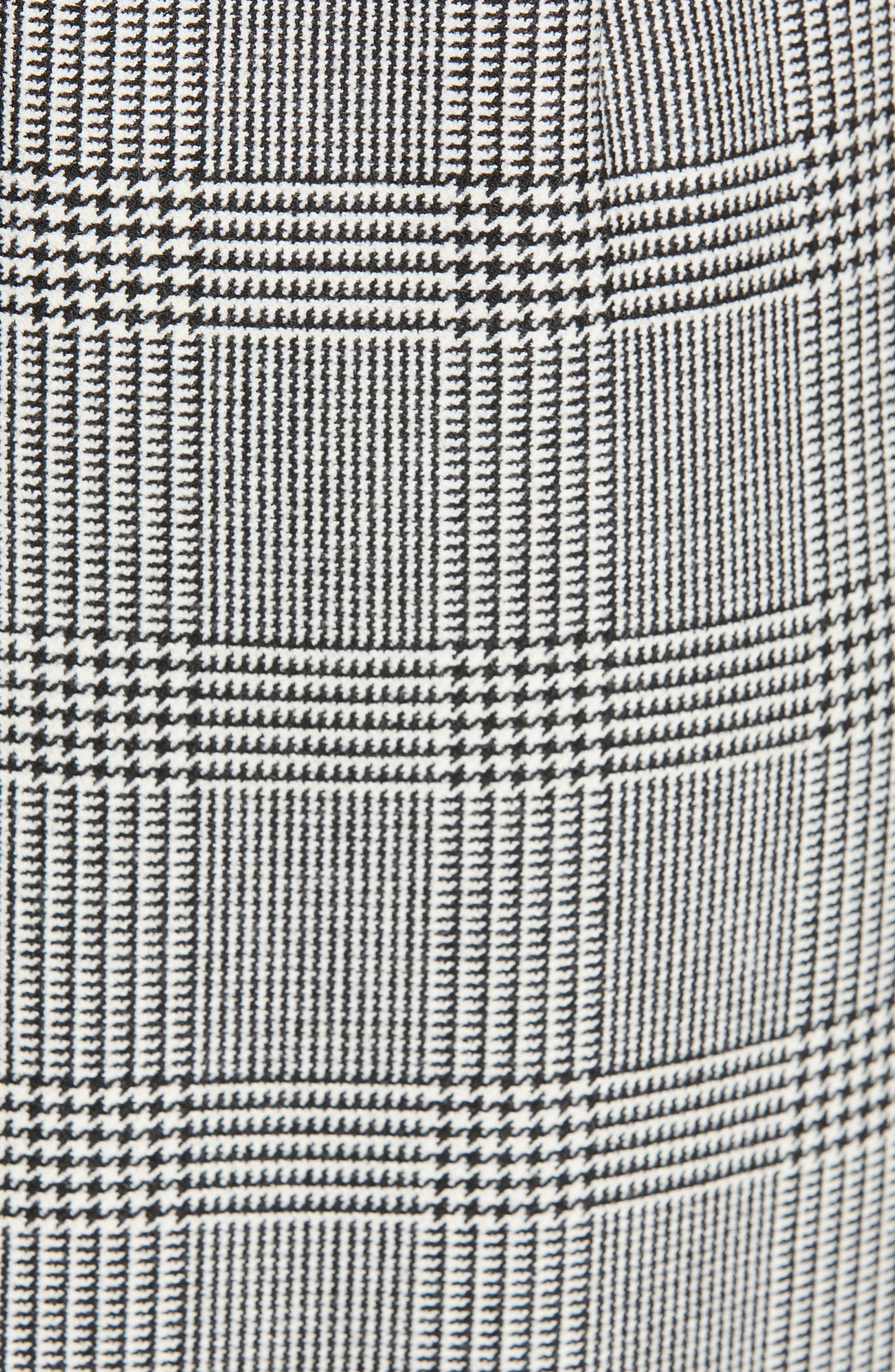 BOSS, Dechesta Glen Plaid Sheath Dress, Alternate thumbnail 6, color, 020