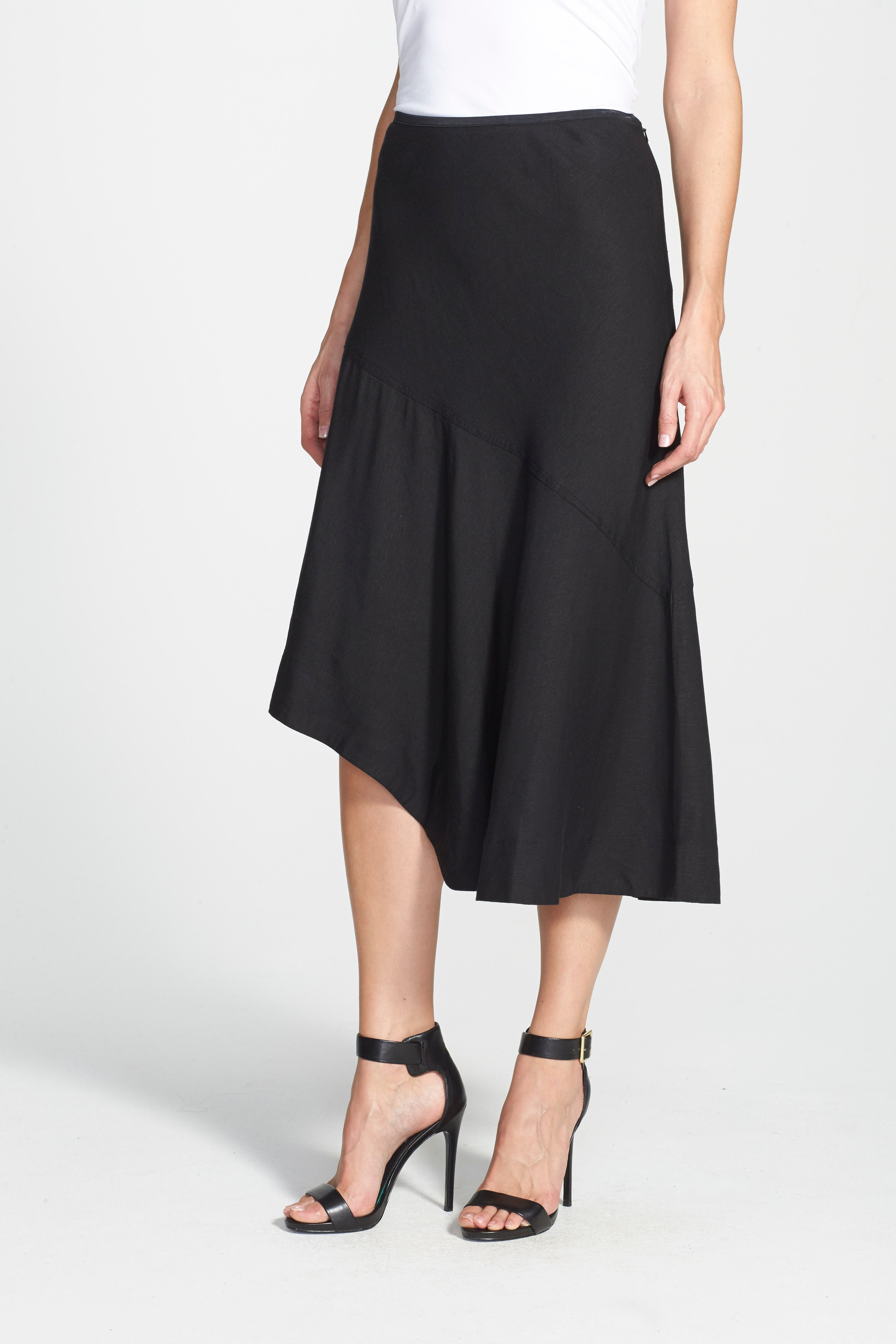 NIC+ZOE, 'The Long Engagement' Midi Skirt, Alternate thumbnail 6, color, 004