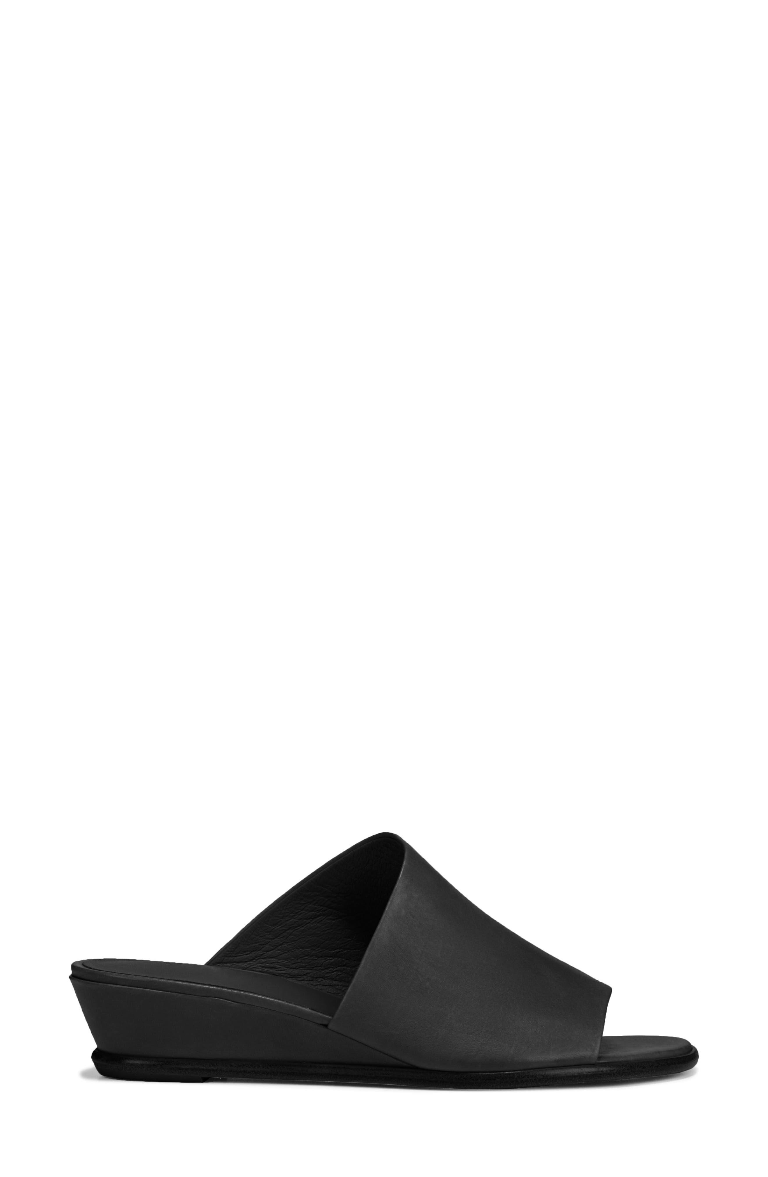 VINCE, Duvall Asymmetrical Wedge Sandal, Alternate thumbnail 3, color, BLACK