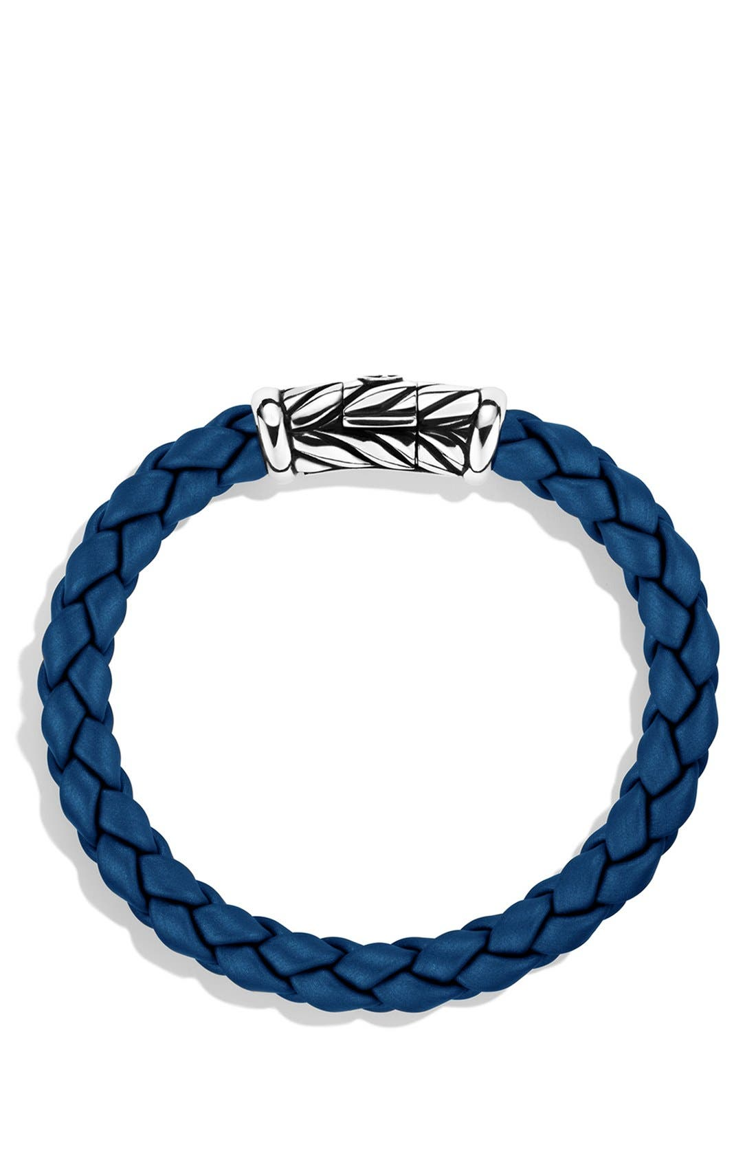 DAVID YURMAN, 'Chevron' Bracelet, Alternate thumbnail 2, color, BLUE
