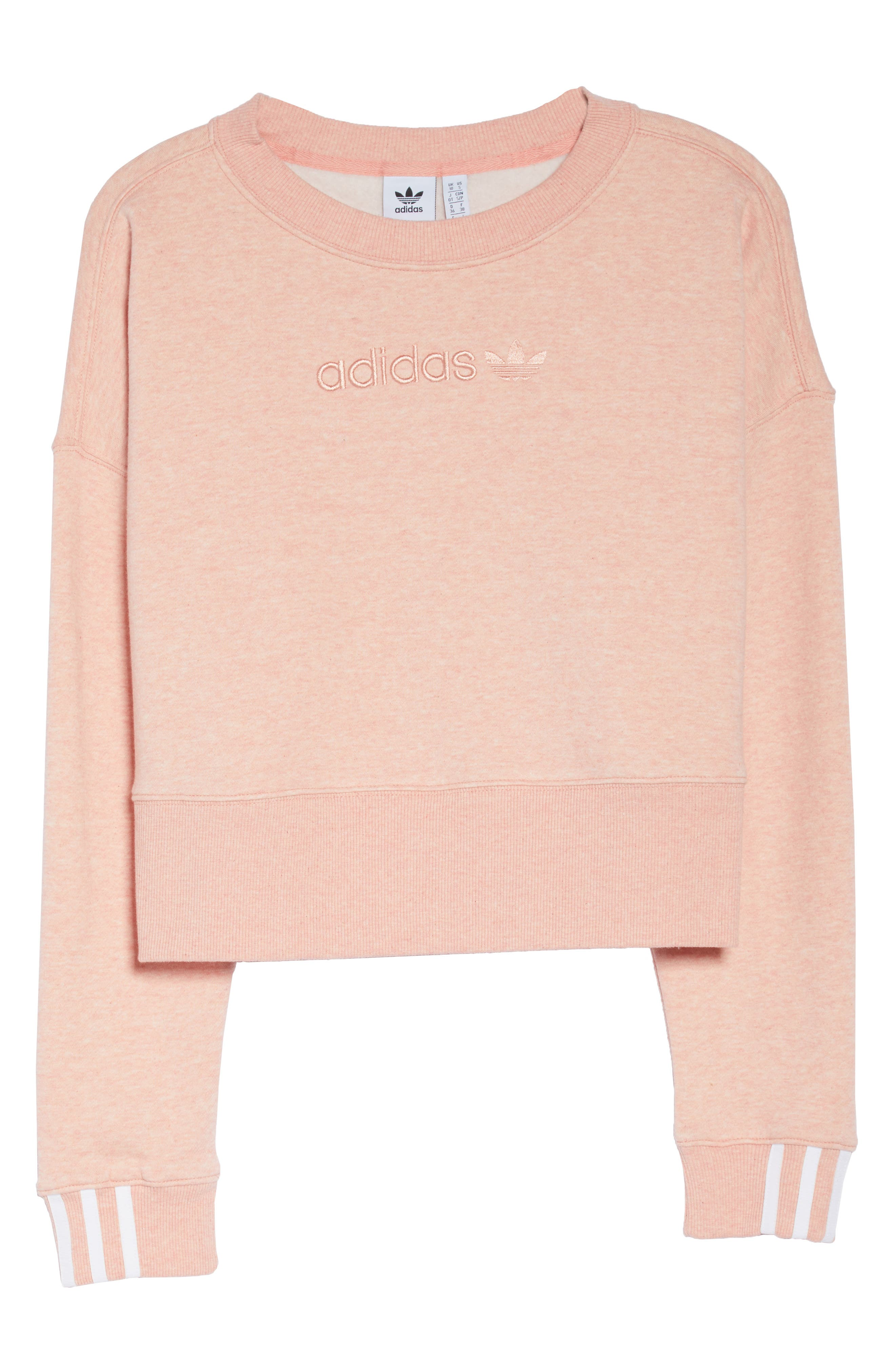 ADIDAS ORIGINALS, adidas Coeeze Crop Sweatshirt, Alternate thumbnail 7, color, 650