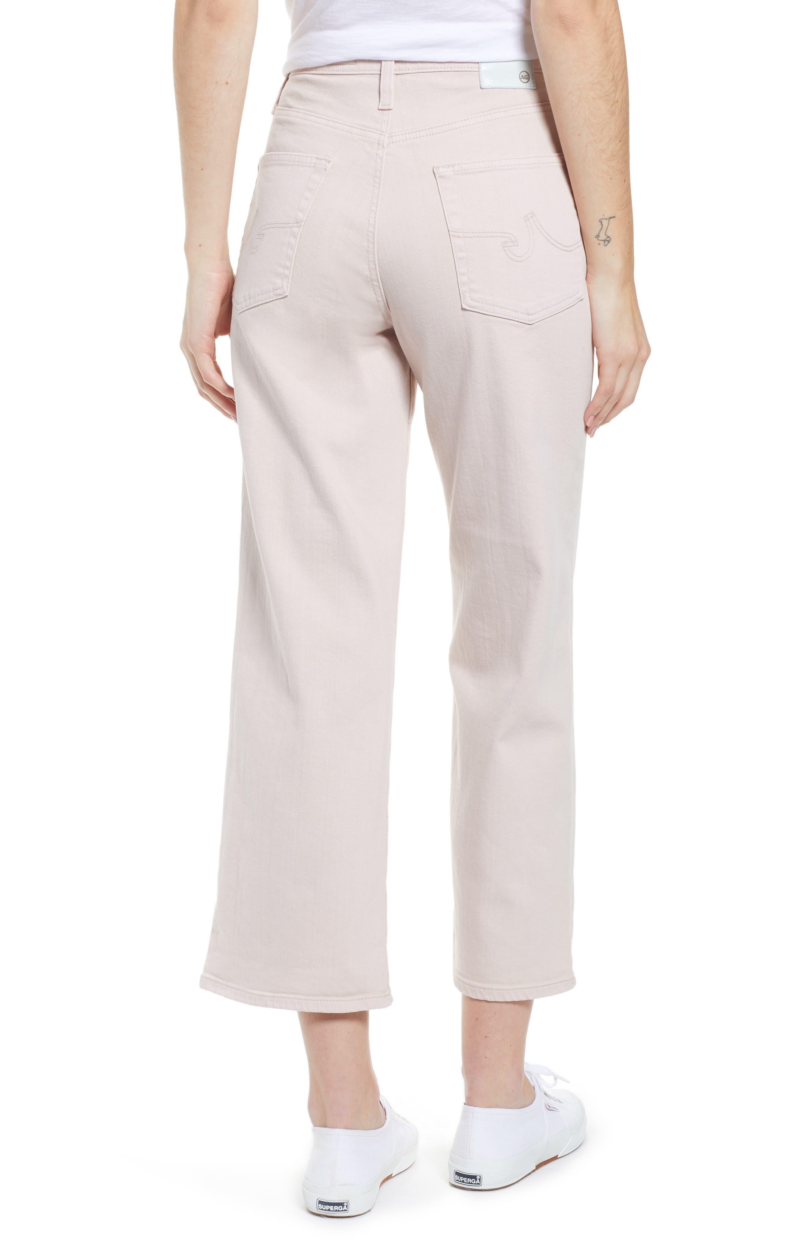 AG, Etta High Waist Crop Wide Leg Jeans, Alternate thumbnail 2, color, SULFUR PEAKED PINK