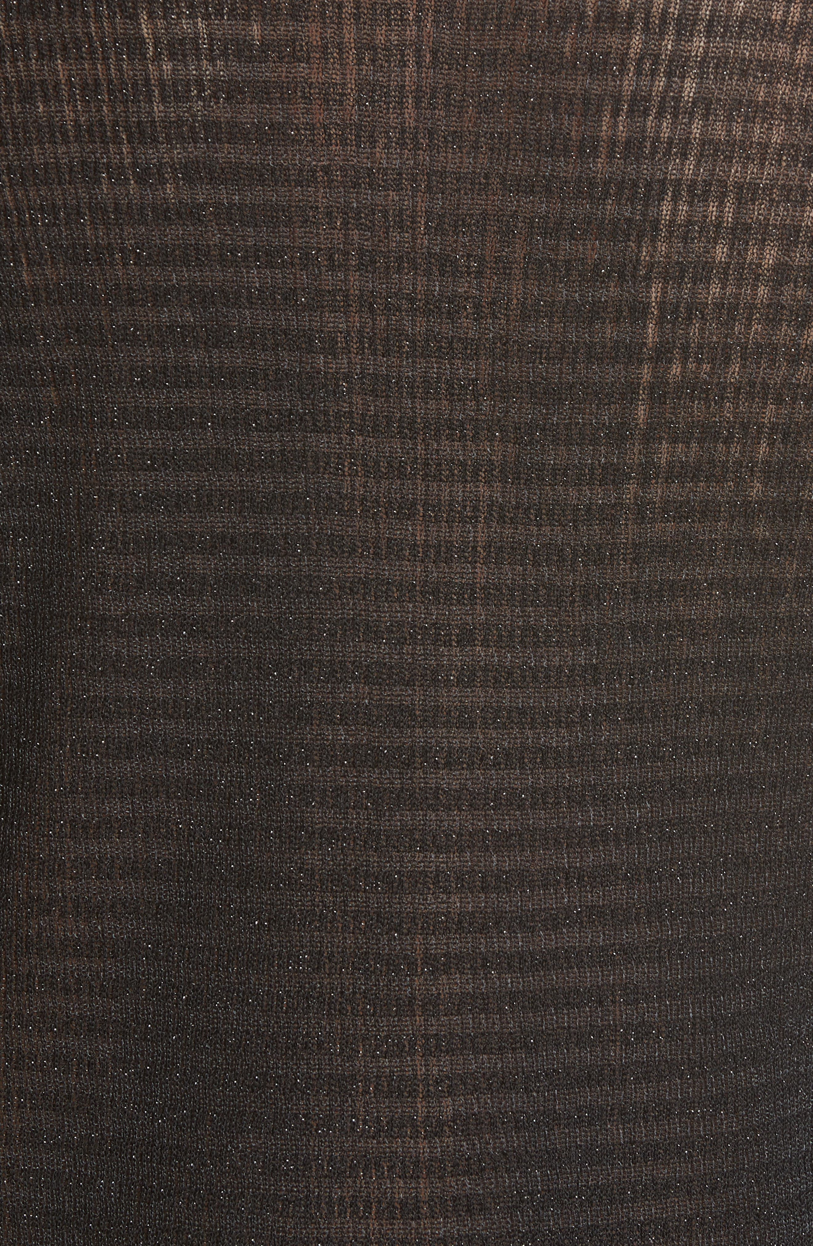 RAG & BONE, Raina Metallic Stripe Tank Top, Alternate thumbnail 5, color, BLACK
