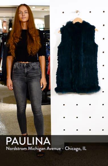 Genuine Rabbit Fur Vest with Genuine Fox Fur Trim, sales video thumbnail