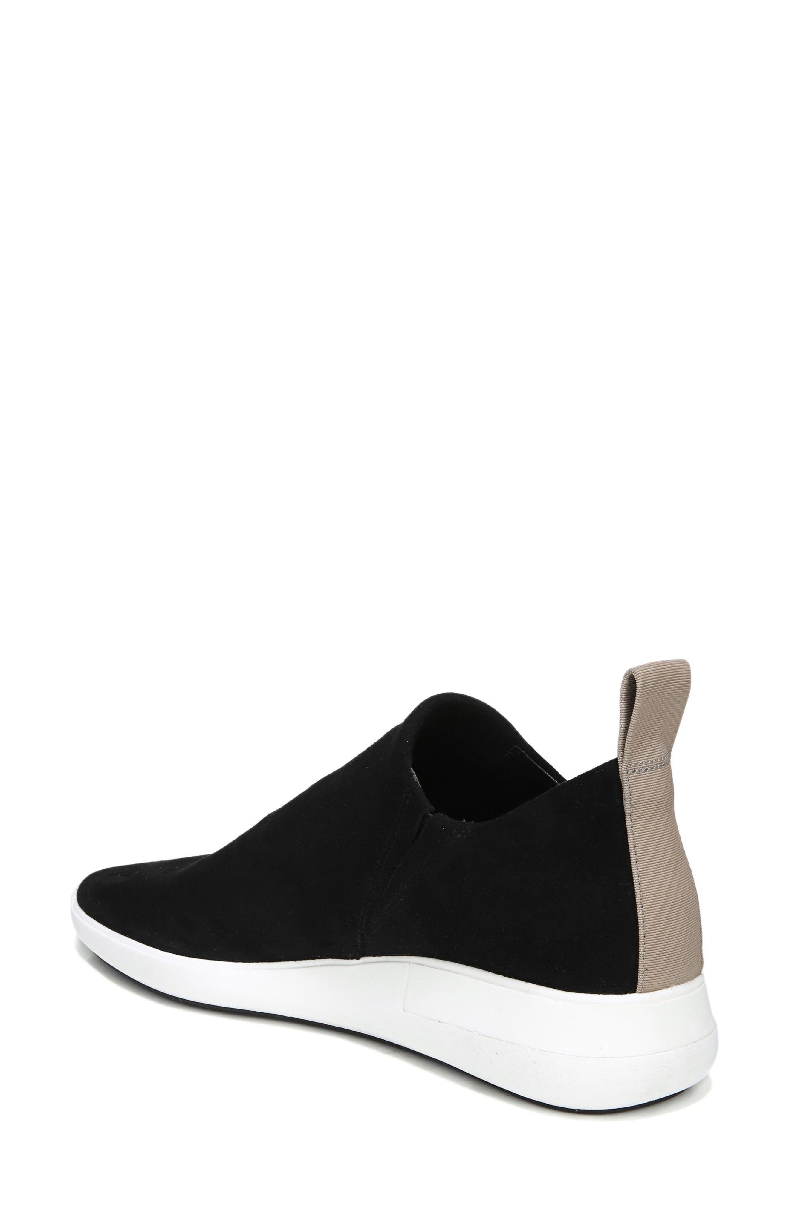 VIA SPIGA, Marlow Slip-On Sneaker, Alternate thumbnail 2, color, BLACK SUEDE