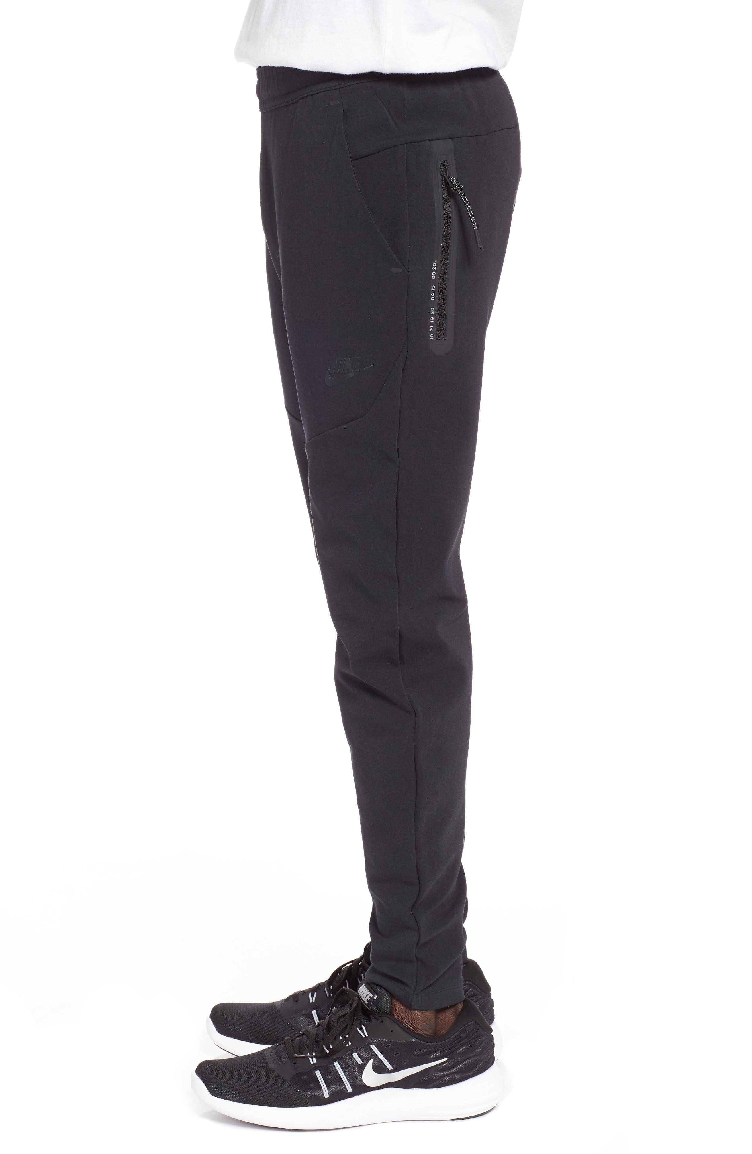 NIKE, Tech Knit Jogger Pants, Alternate thumbnail 4, color, BLACK/ BLACK
